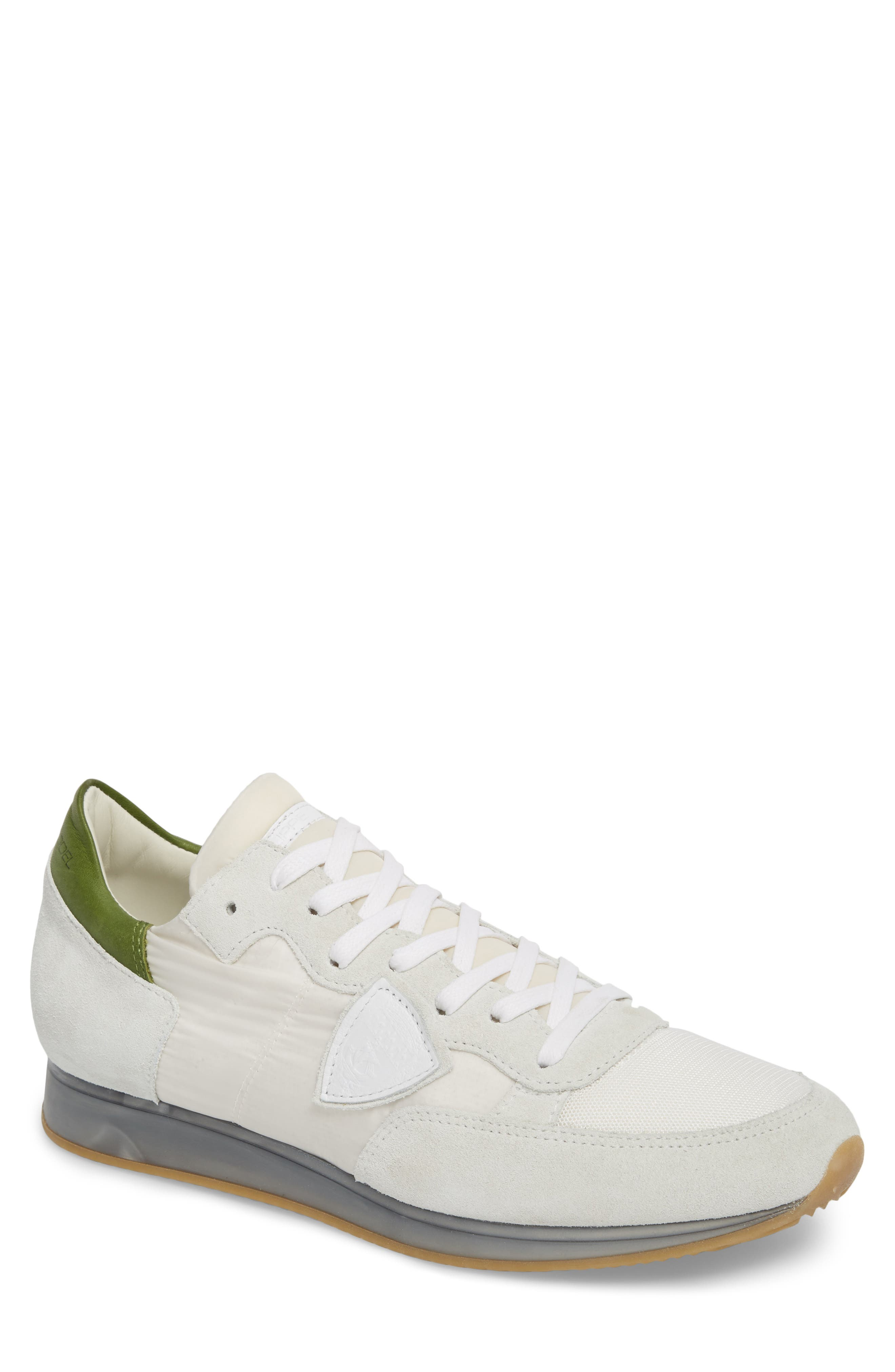 Tropez Sneaker,                         Main,                         color, White/ Green