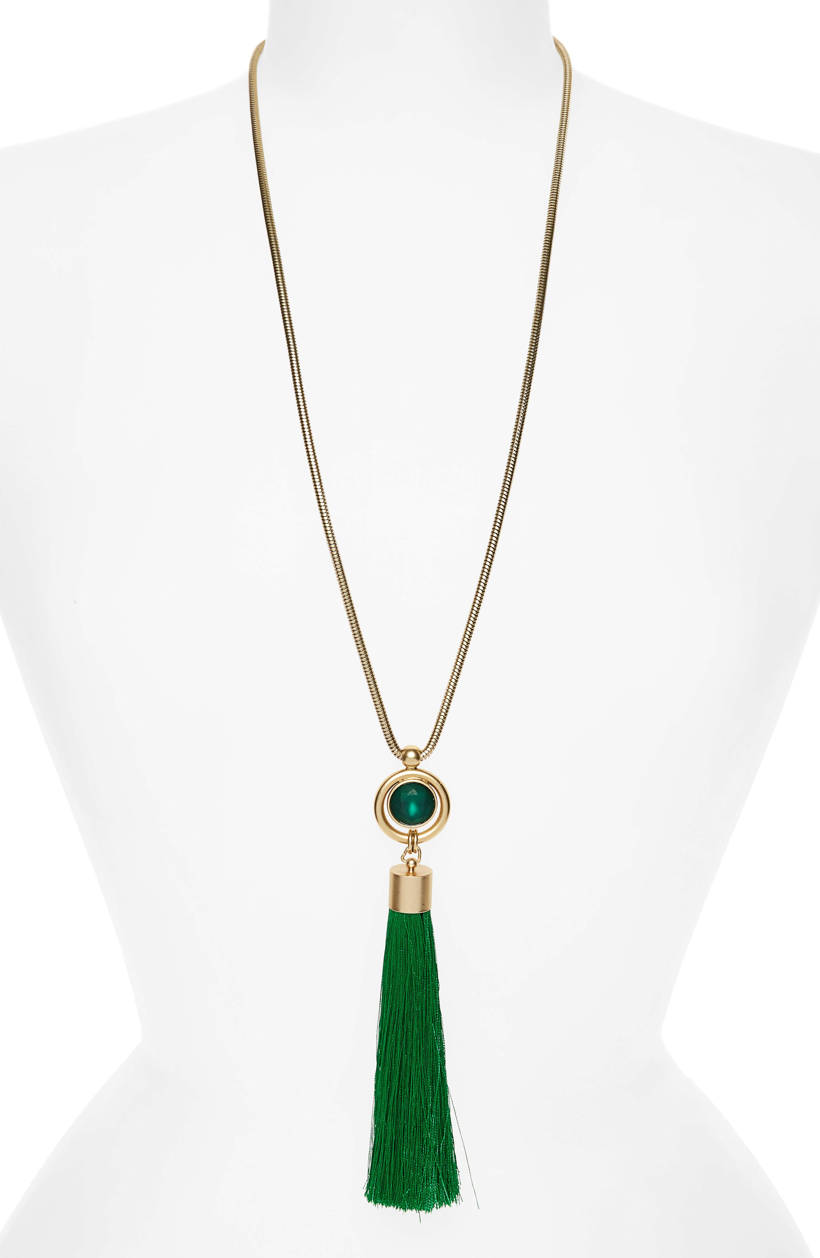 Loren Hope Scarlet Tassel Pendant Necklace