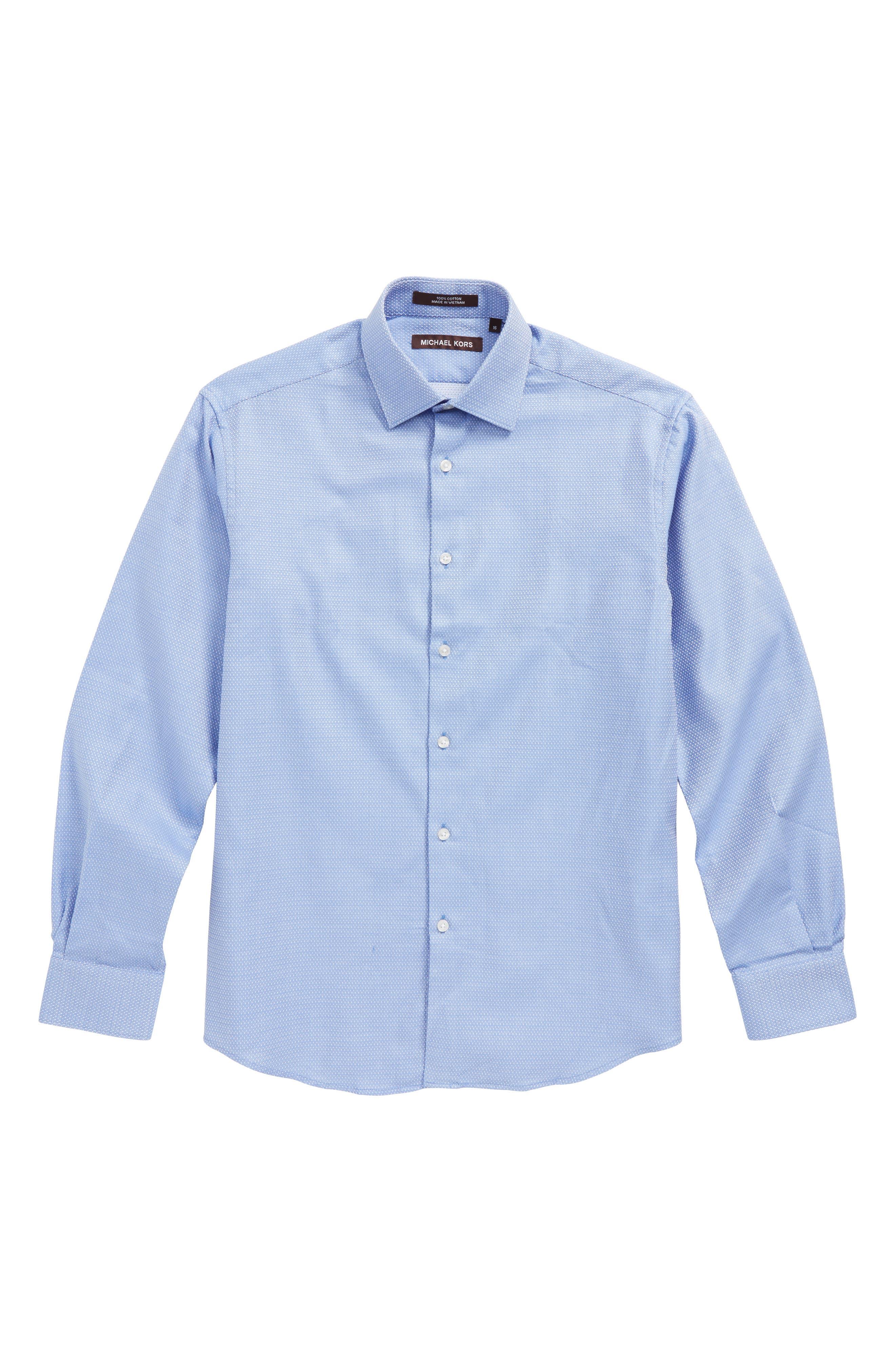 Main Image - Michael Kors Micro Dot Dress Shirt (Big Boys)