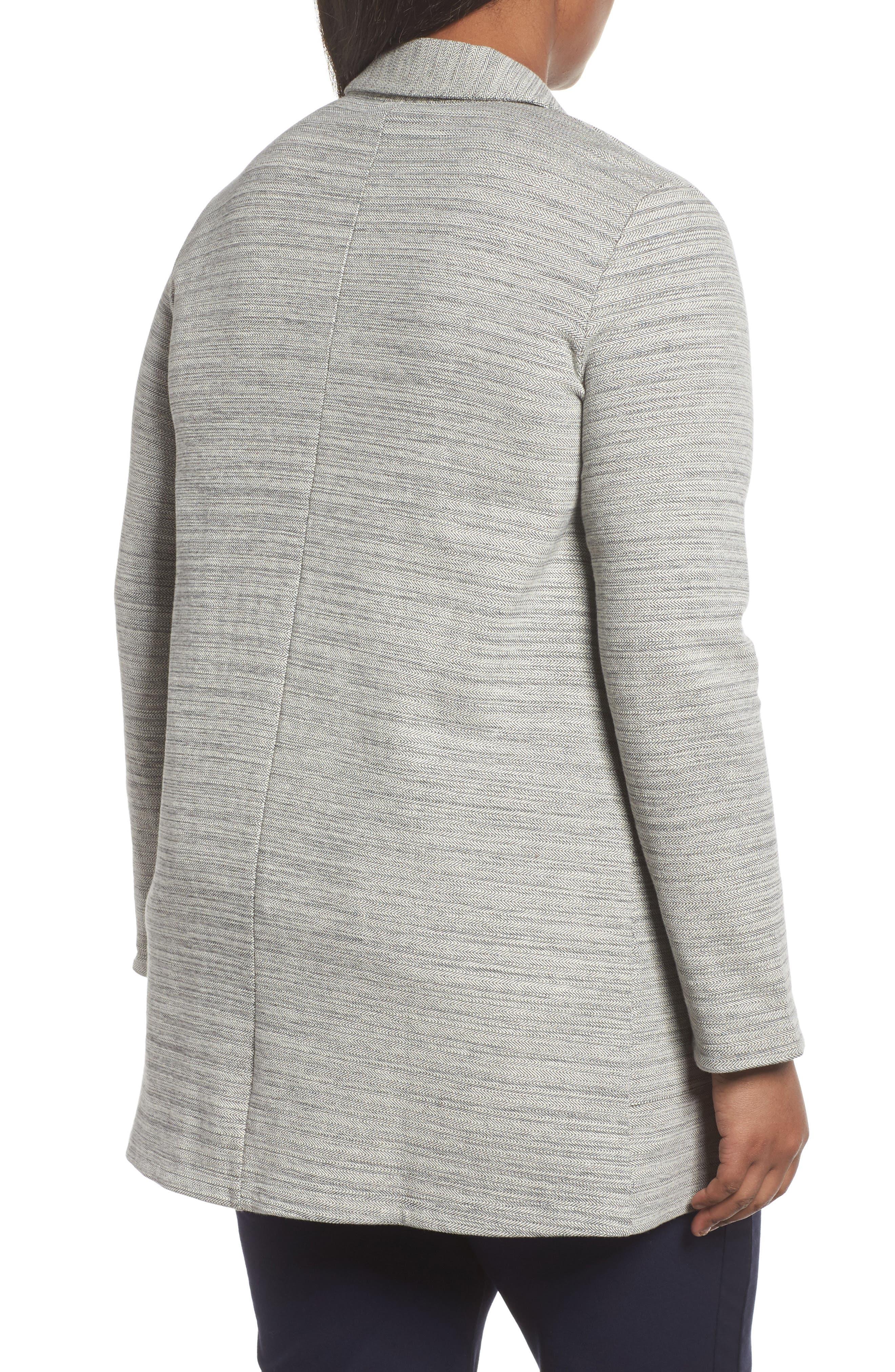 Cotton Blend Tweed Jacket,                             Alternate thumbnail 2, color,                             Dark Pearl