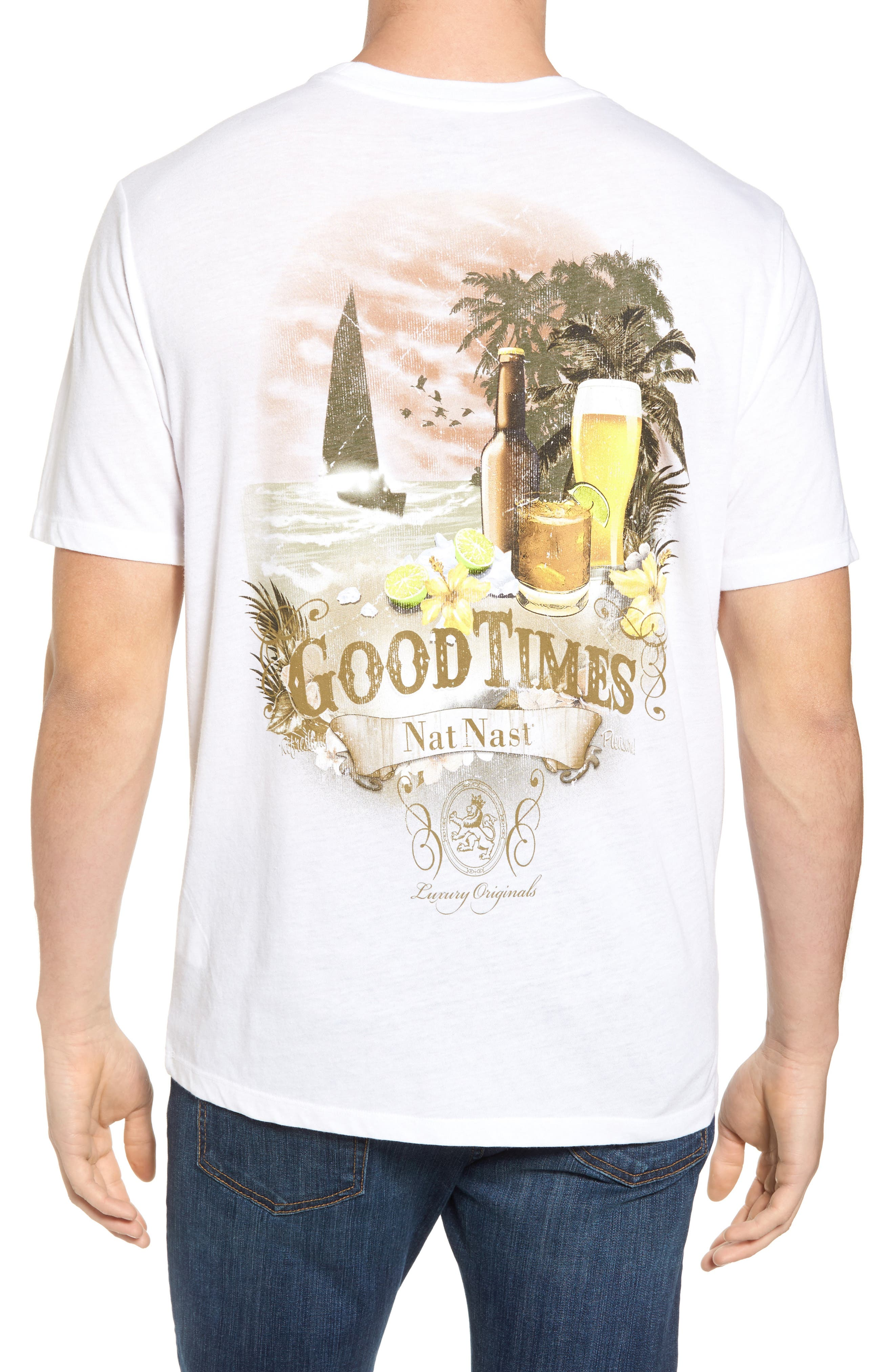 Good Times Graphic T-Shirt,                             Alternate thumbnail 2, color,                             White