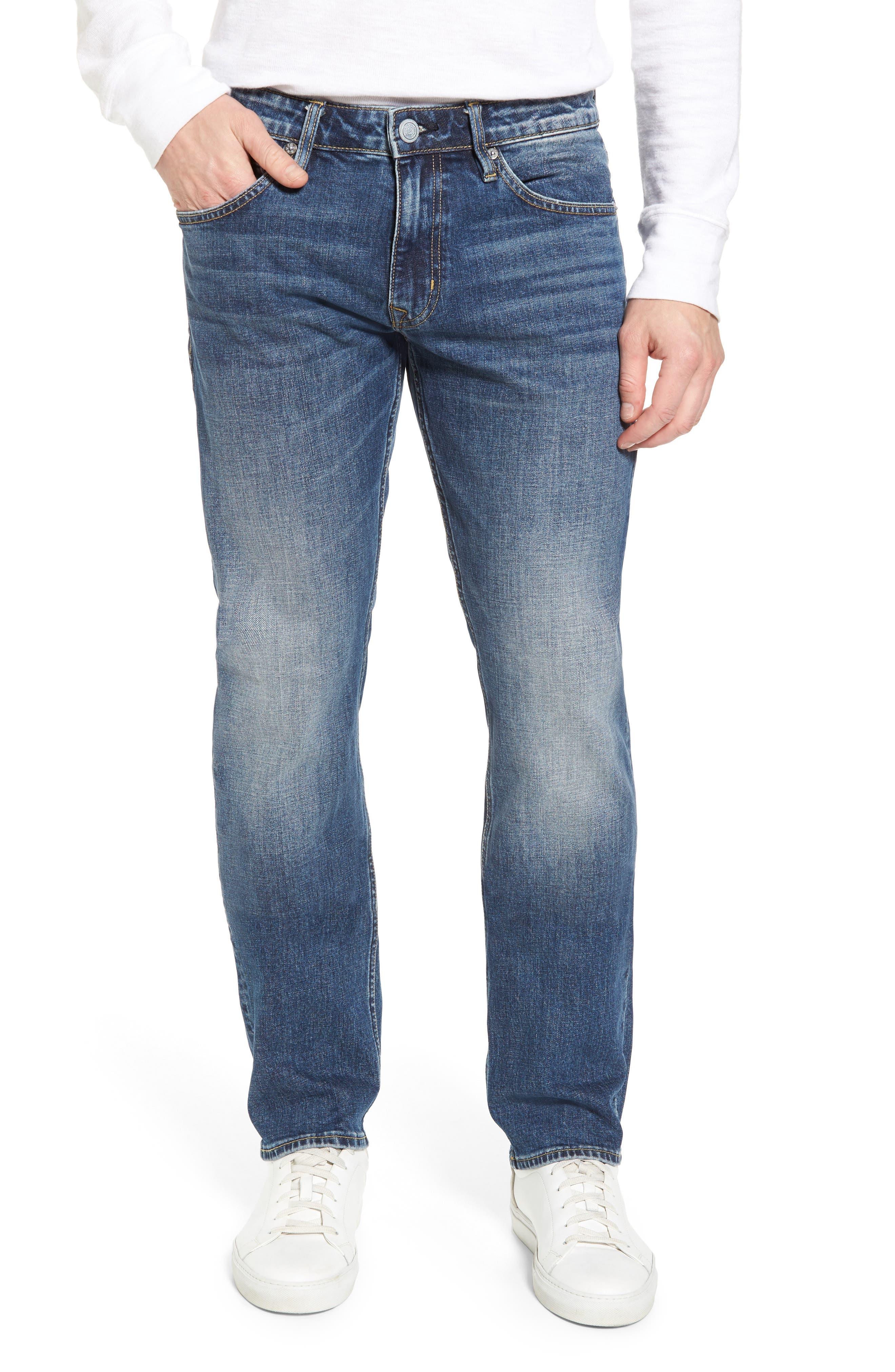 Main Image - Vigoss Slim Straight Leg Jeans (Medium Wash)