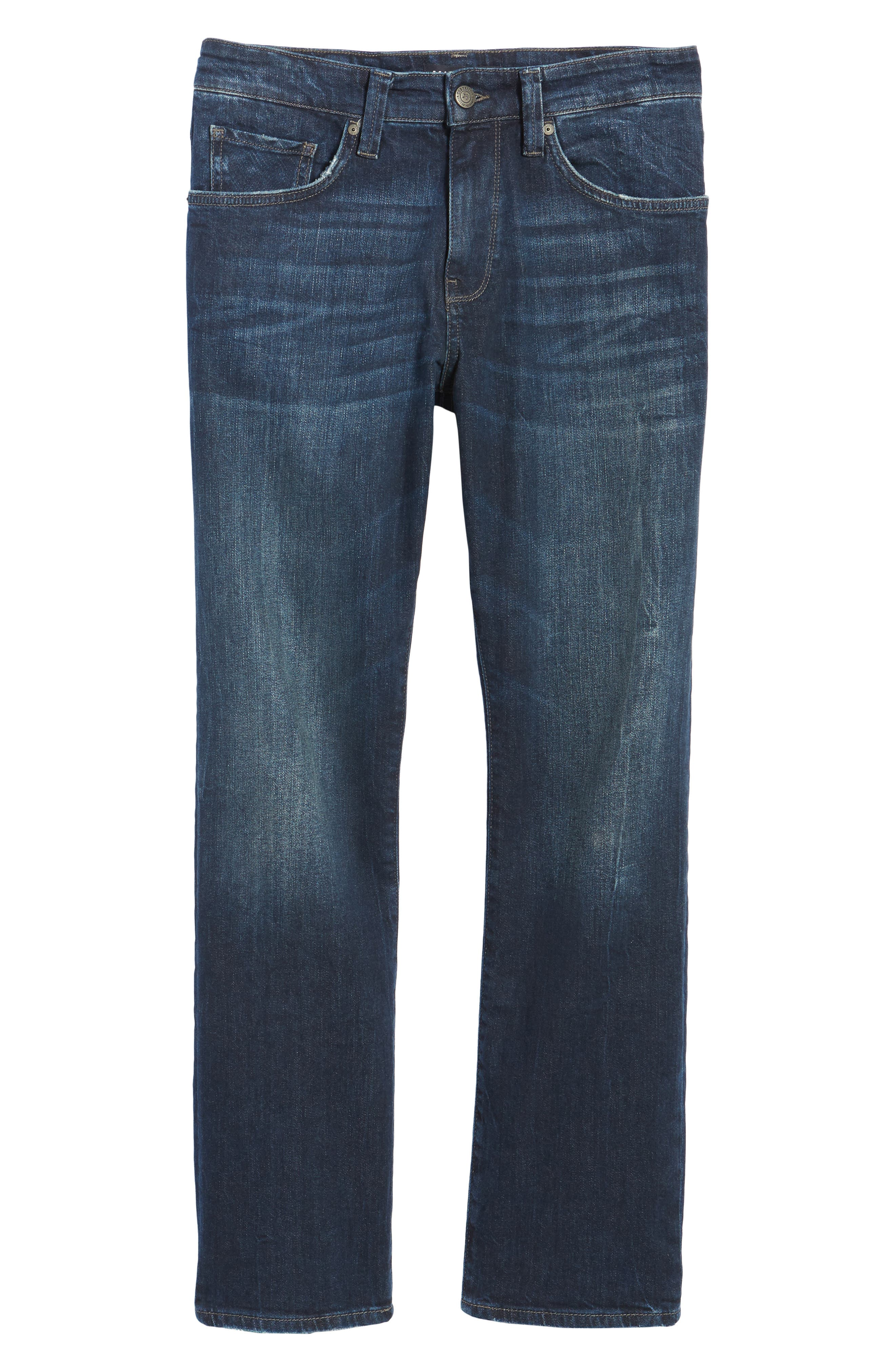 Myles Straight Leg Jeans,                             Alternate thumbnail 6, color,                             Deep Brooklyn