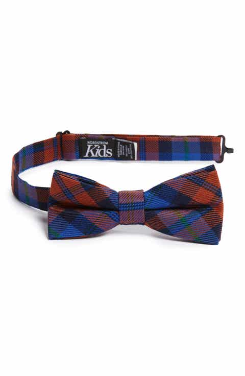 Boys ties bow ties nordstrom nordstrom plaid silk bow tie big boys ccuart Images