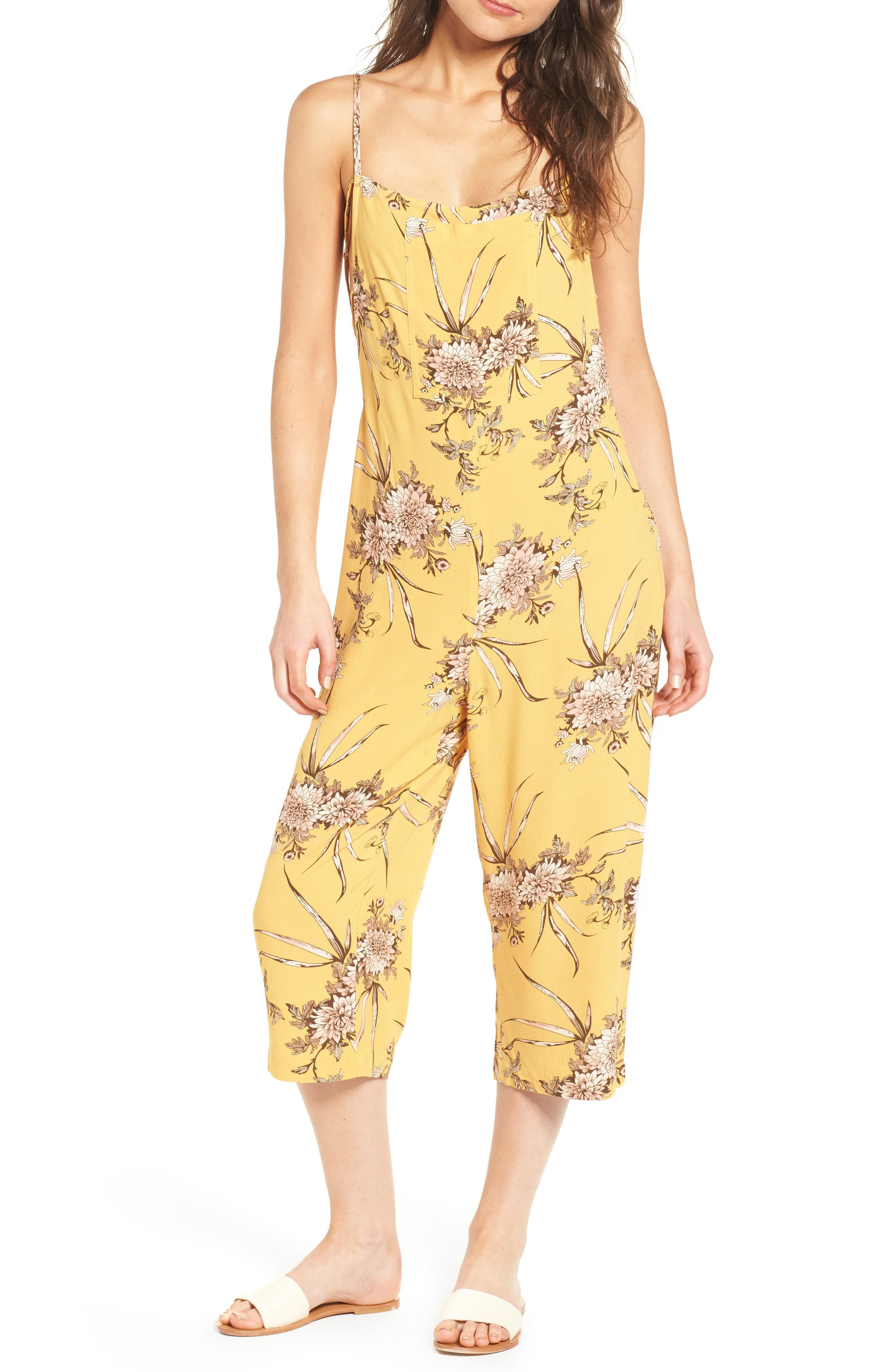 Daydream Jumpsuit,                         Main,                         color, Honey