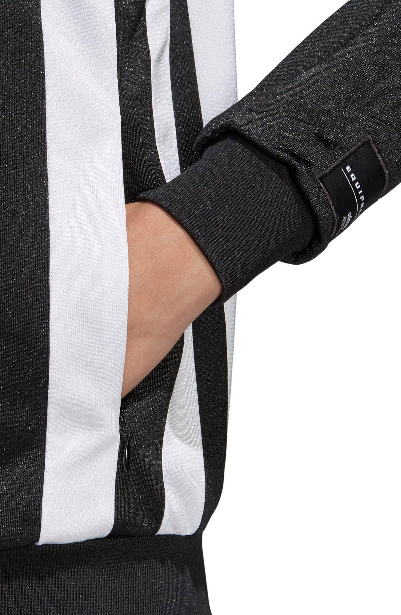 Originals Superstar Track Jacket,                             Alternate thumbnail 5, color,                             Black/ White