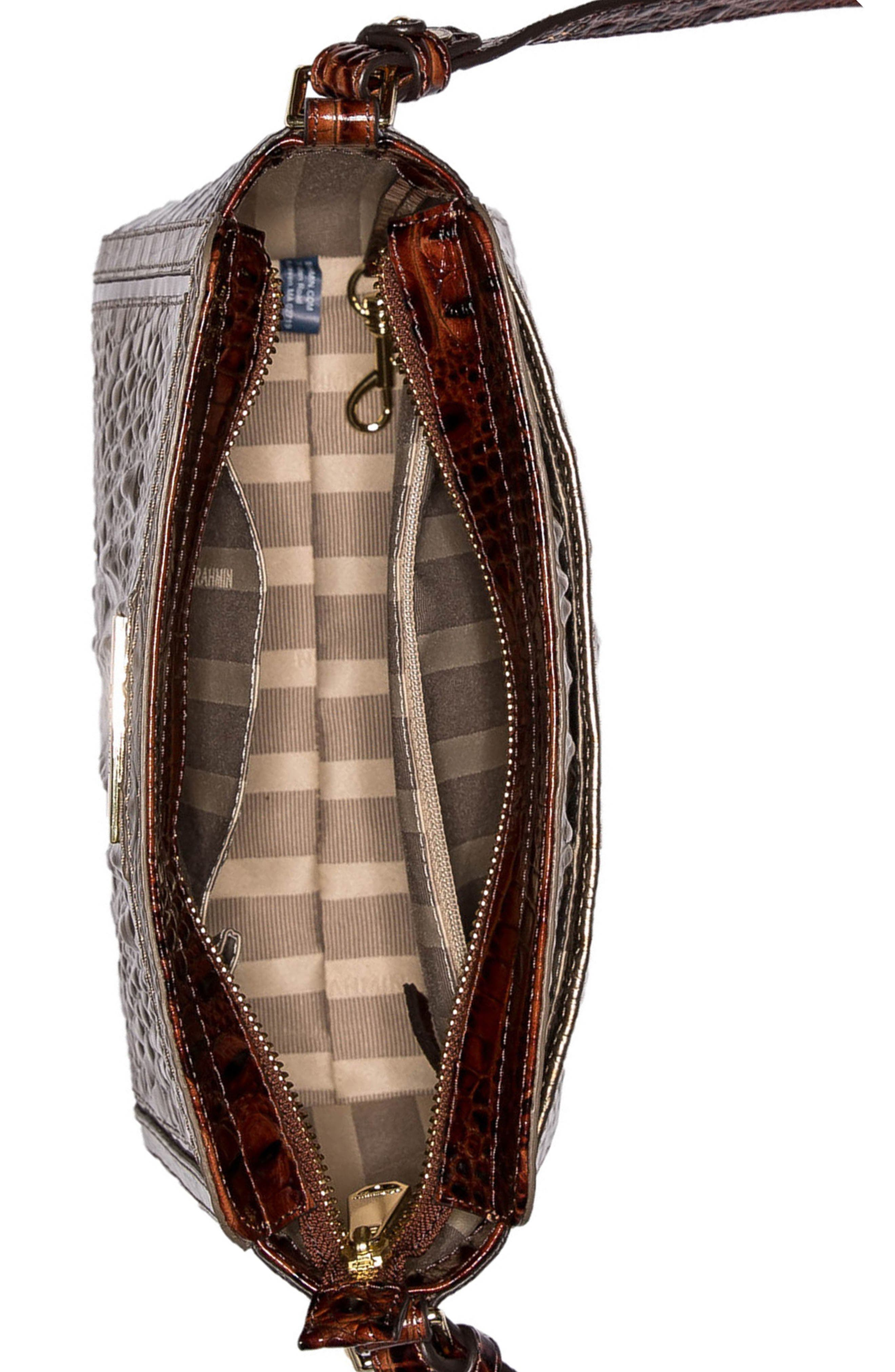 Alternate Image 3  - Brahmin Carrie Croc-Embossed Leather Crossbody Bag