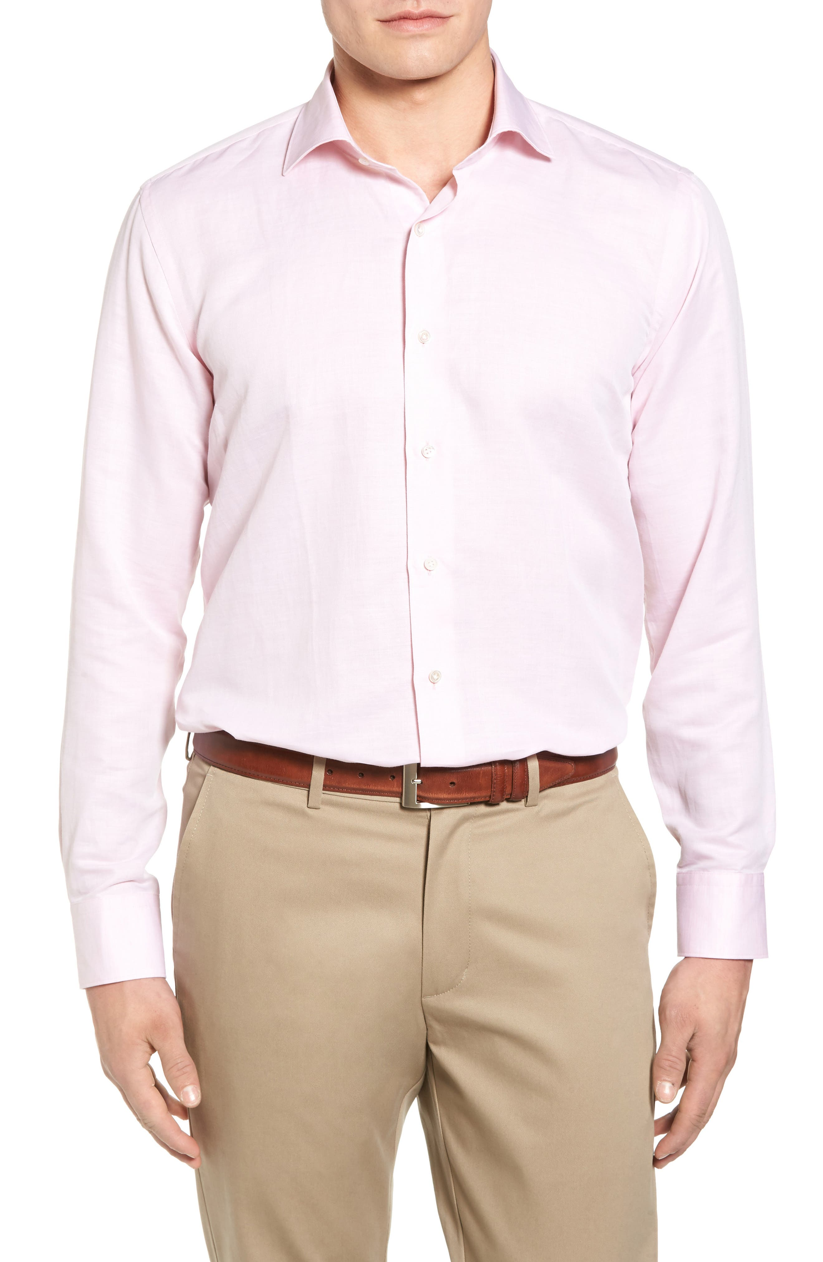 Linen & Cotton Sport Shirt,                         Main,                         color, Parisian Peony