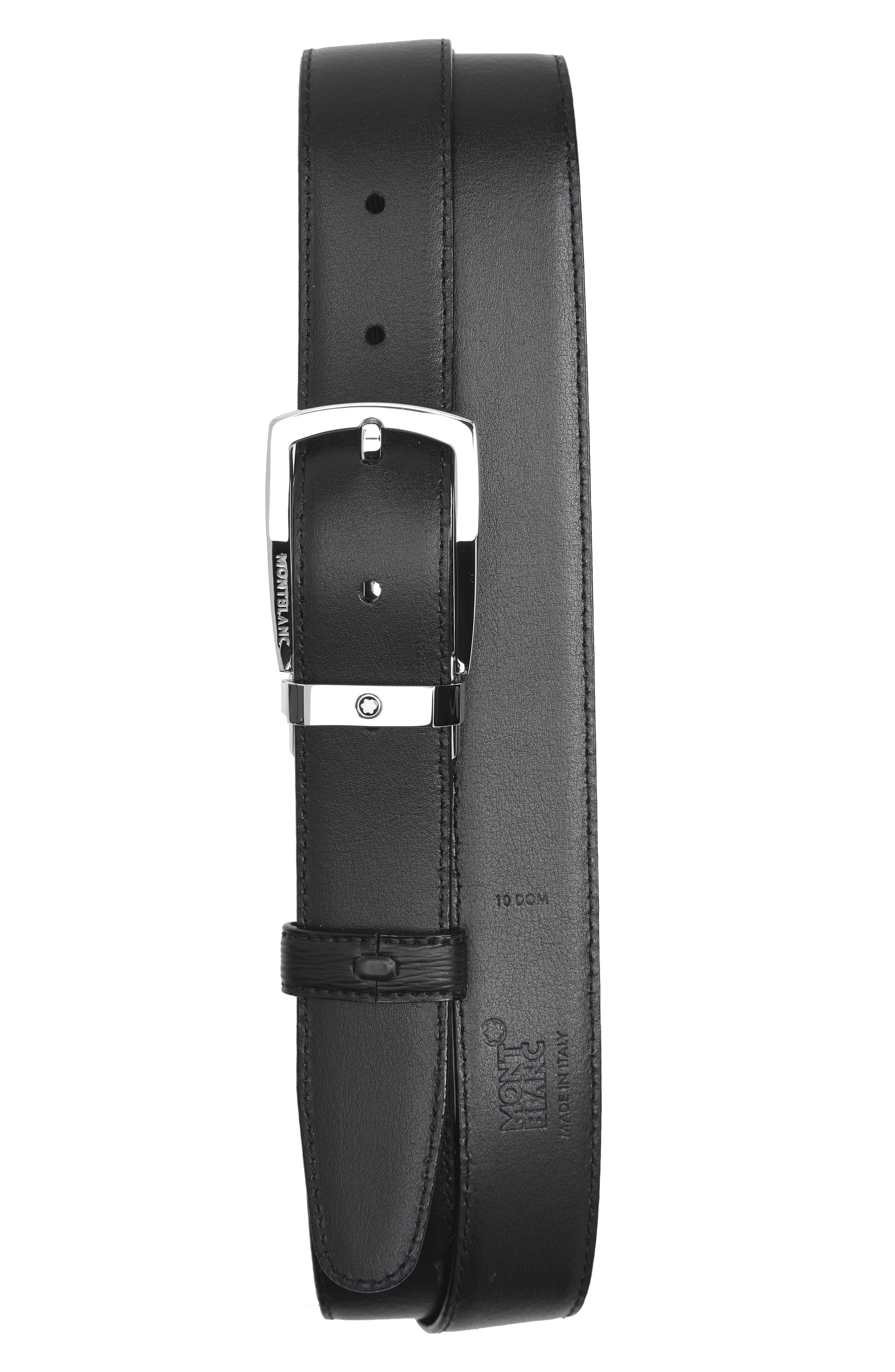 Westside Reversible Sartorial Leather Belt,                             Alternate thumbnail 3, color,                             Black
