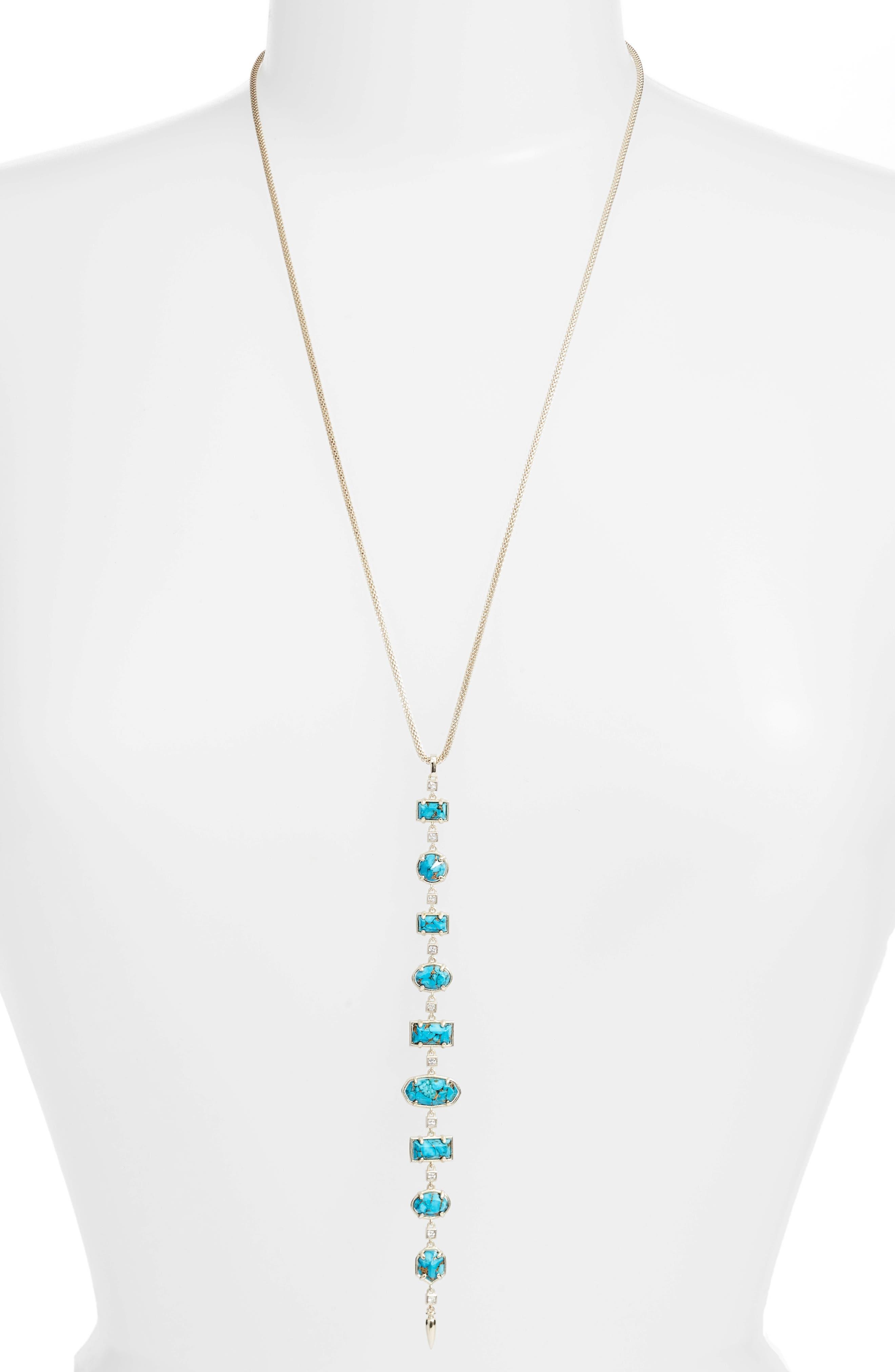 Kendra Scott Taniesja Linear Stone Drop Necklace FZAj5r