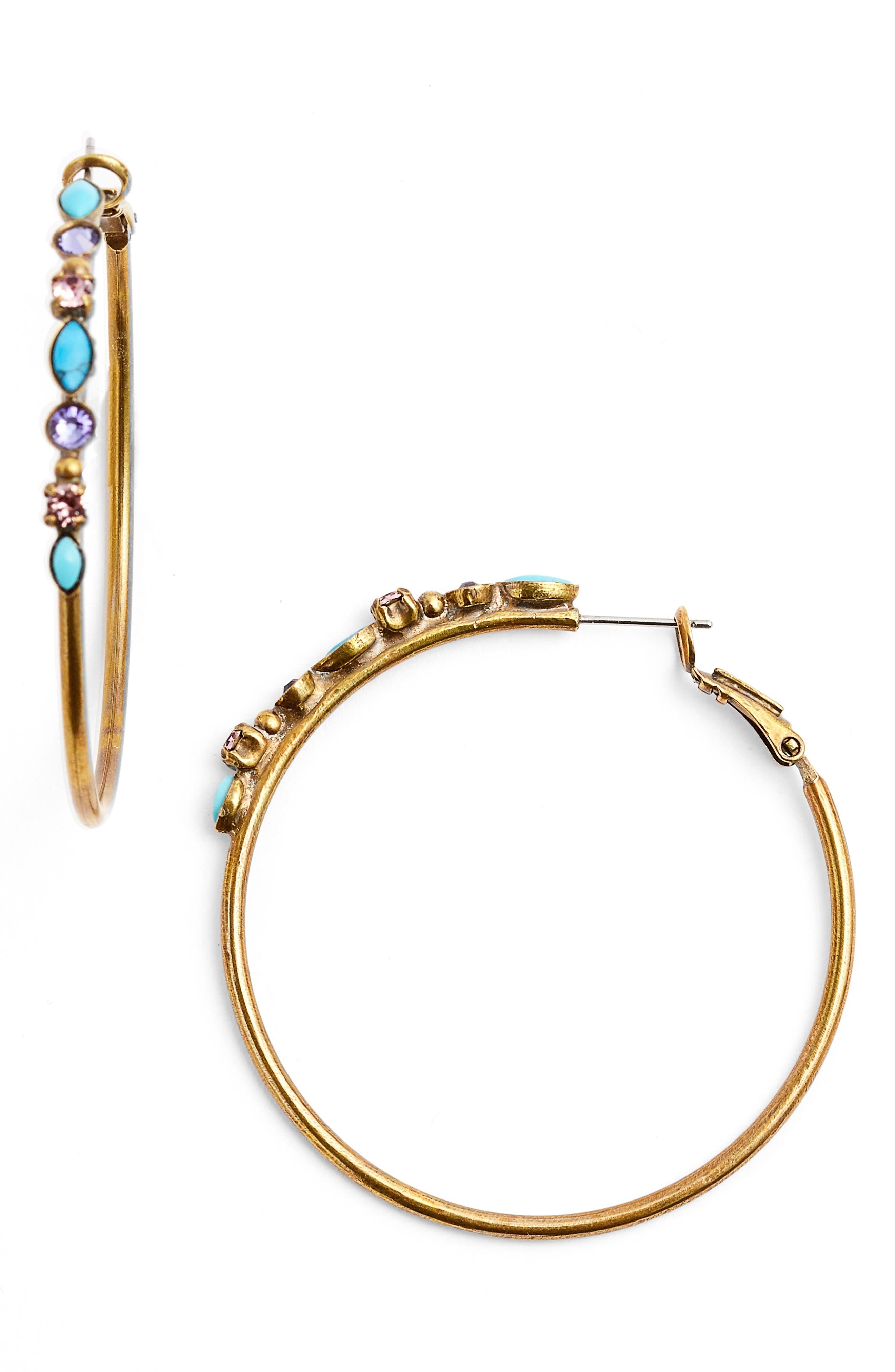 Main Image - Sorrelli Mixed Media Large Hoop Earrings