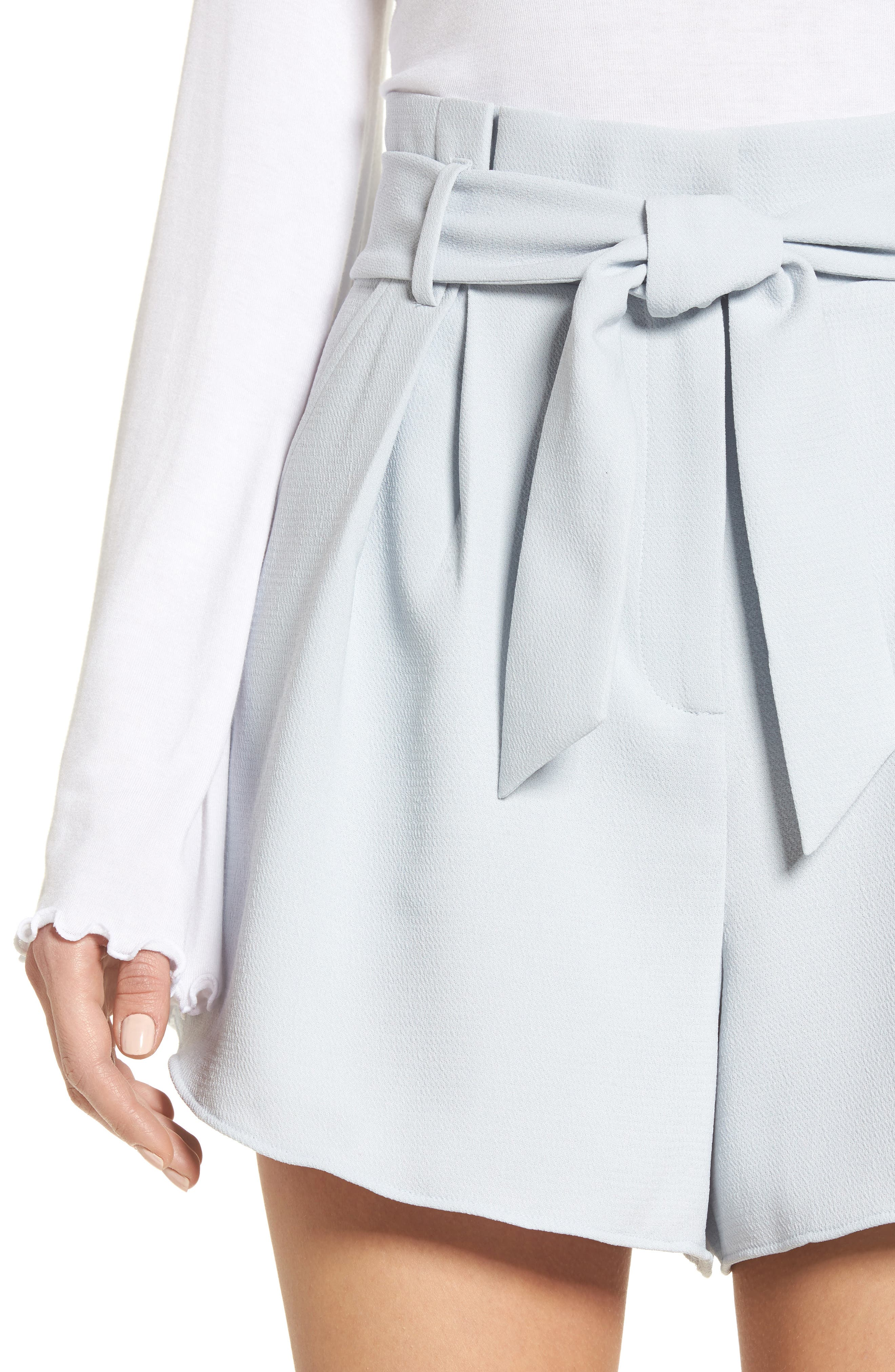 Paperbag Shorts,                             Alternate thumbnail 4, color,                             Blue Pearl