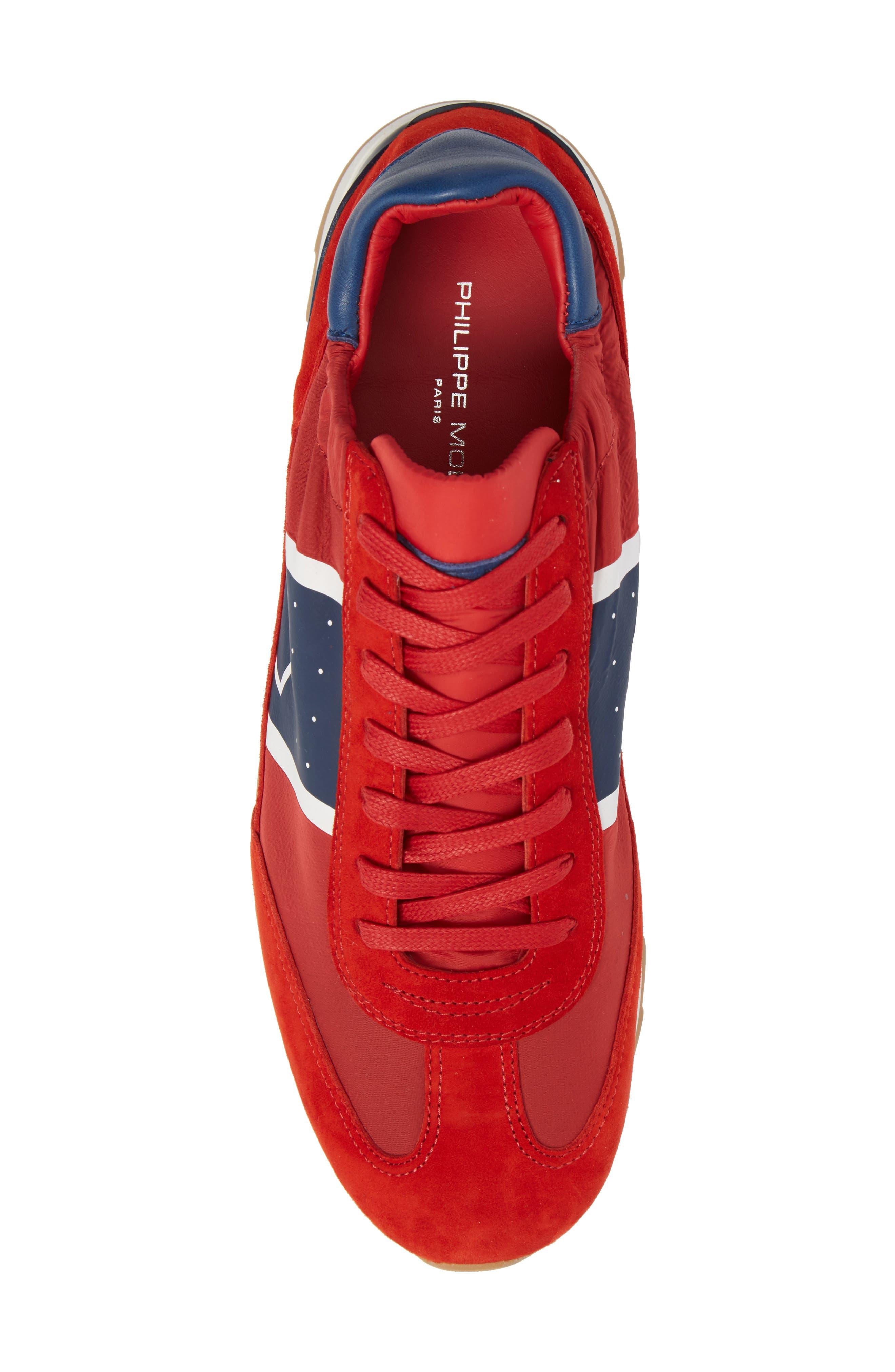 Toujours Sneaker,                             Alternate thumbnail 5, color,                             Red/ Blue