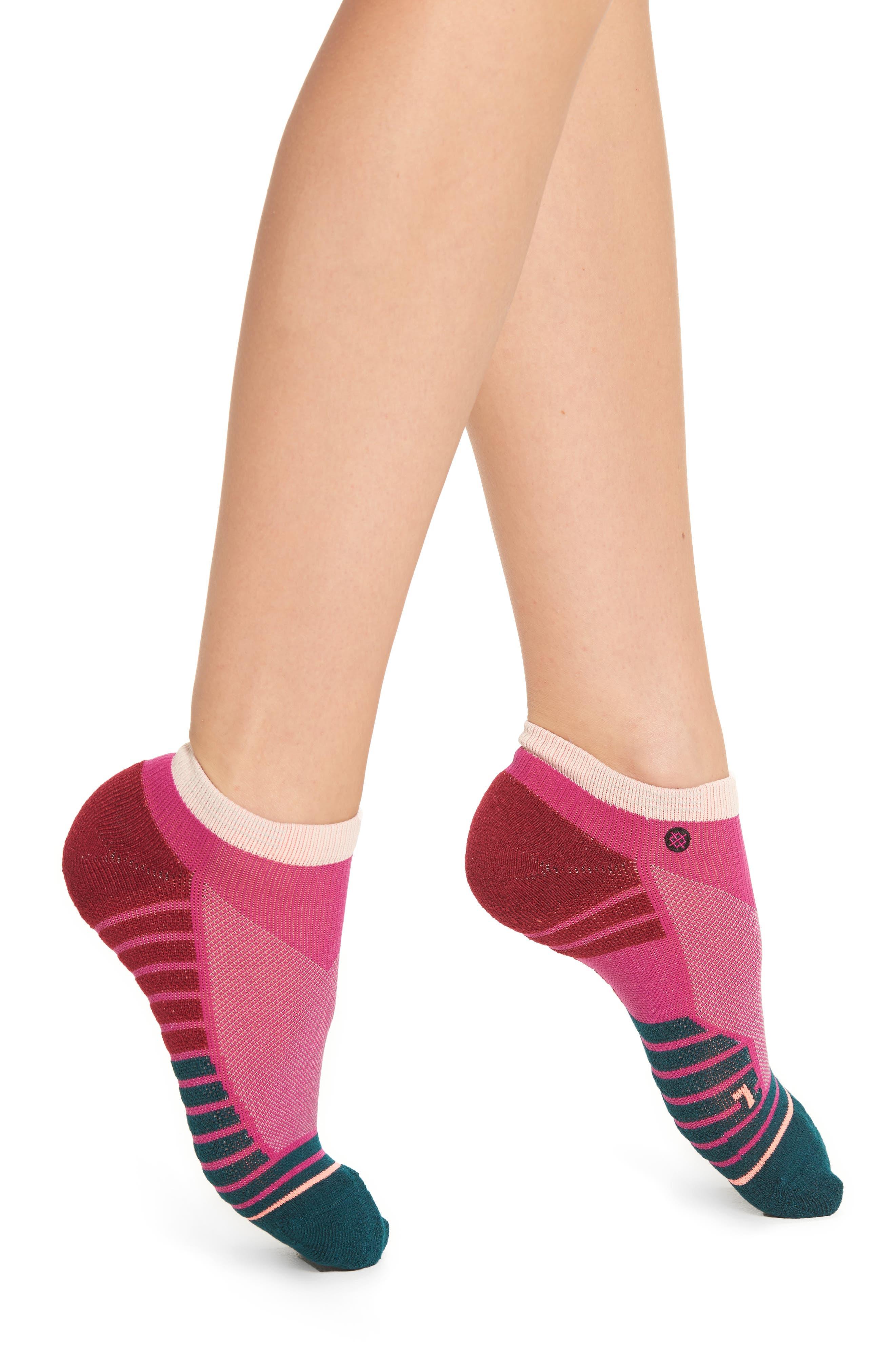 Tone Athletic Low Cut Socks,                         Main,                         color, Fuchsia