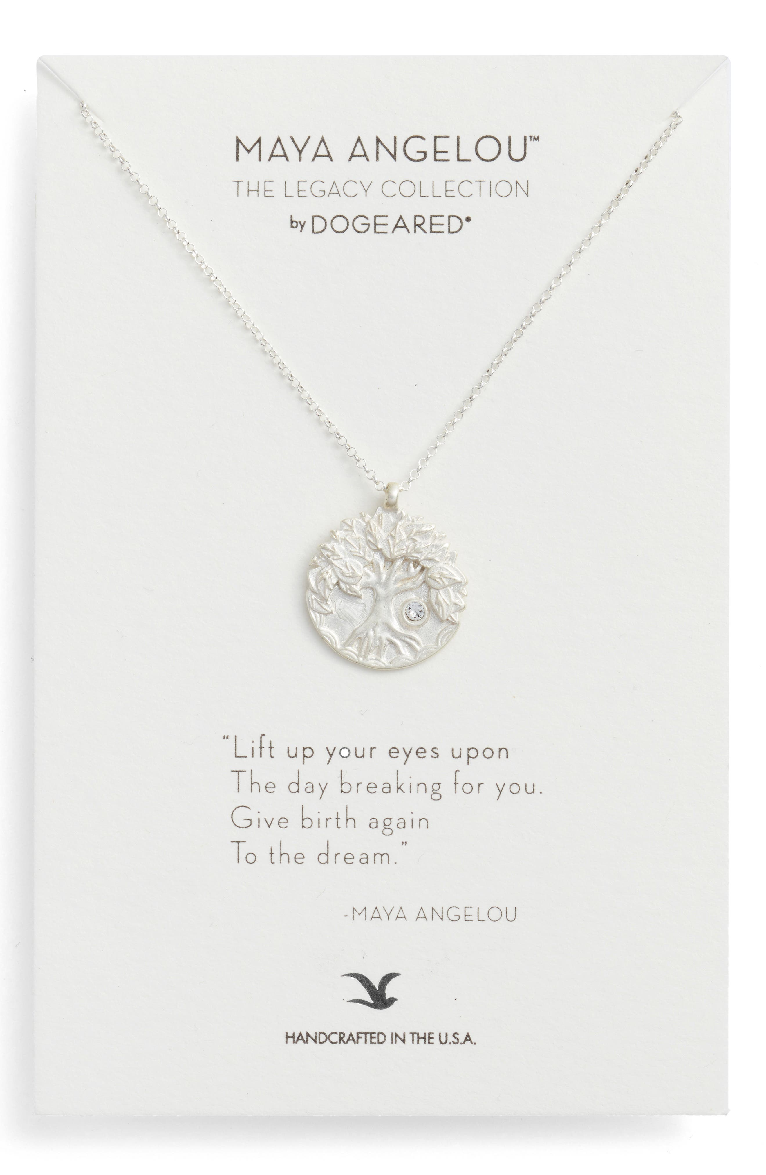 The Legacy Collection - Lift Up Your Eyes Upon... Pendant Necklace,                             Main thumbnail 1, color,                             Silver