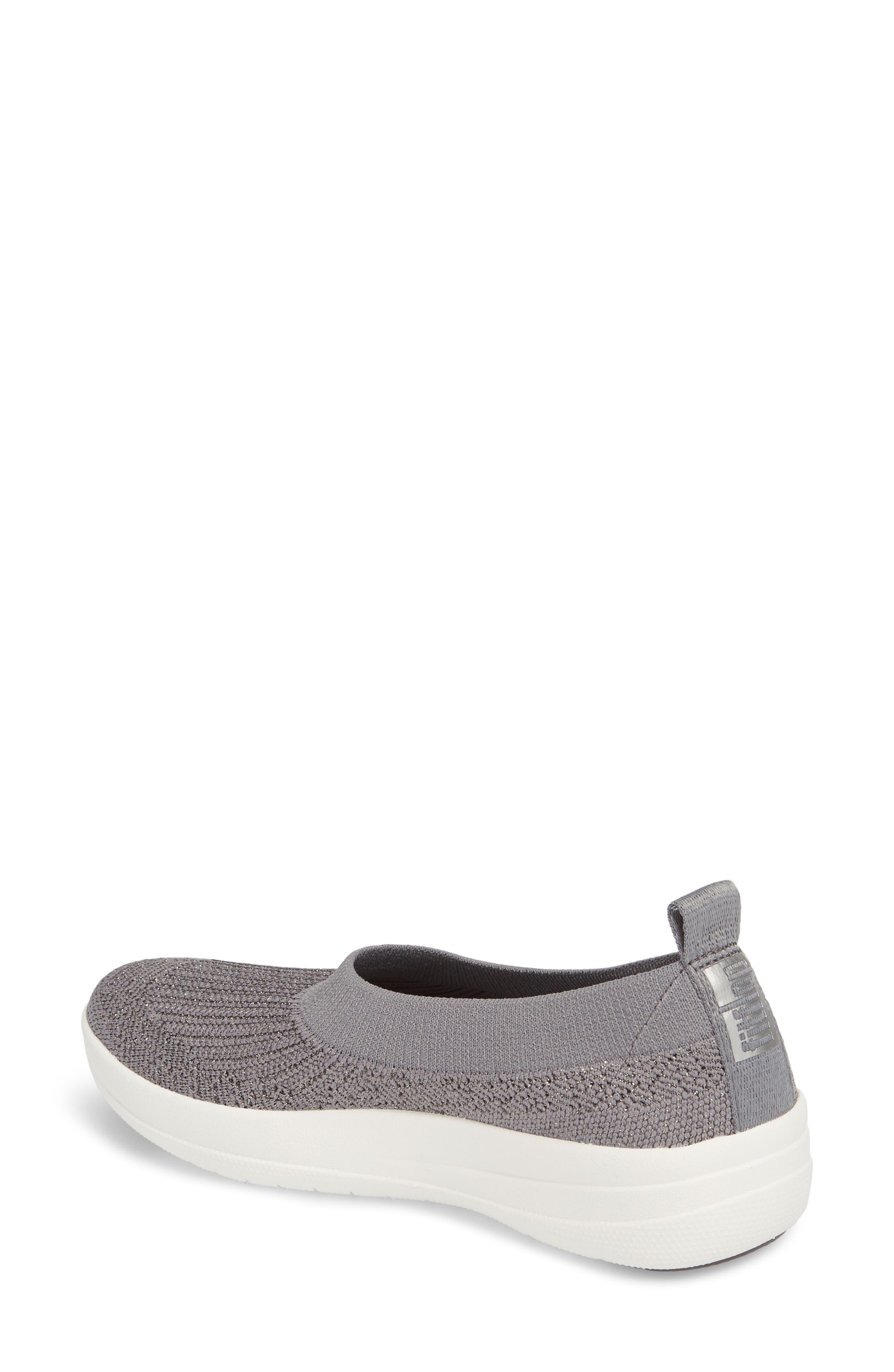 Uberknit<sup>™</sup> Slip-On Ballerina Sneaker,                             Alternate thumbnail 2, color,                             Charcoal/ Metallic Pewter