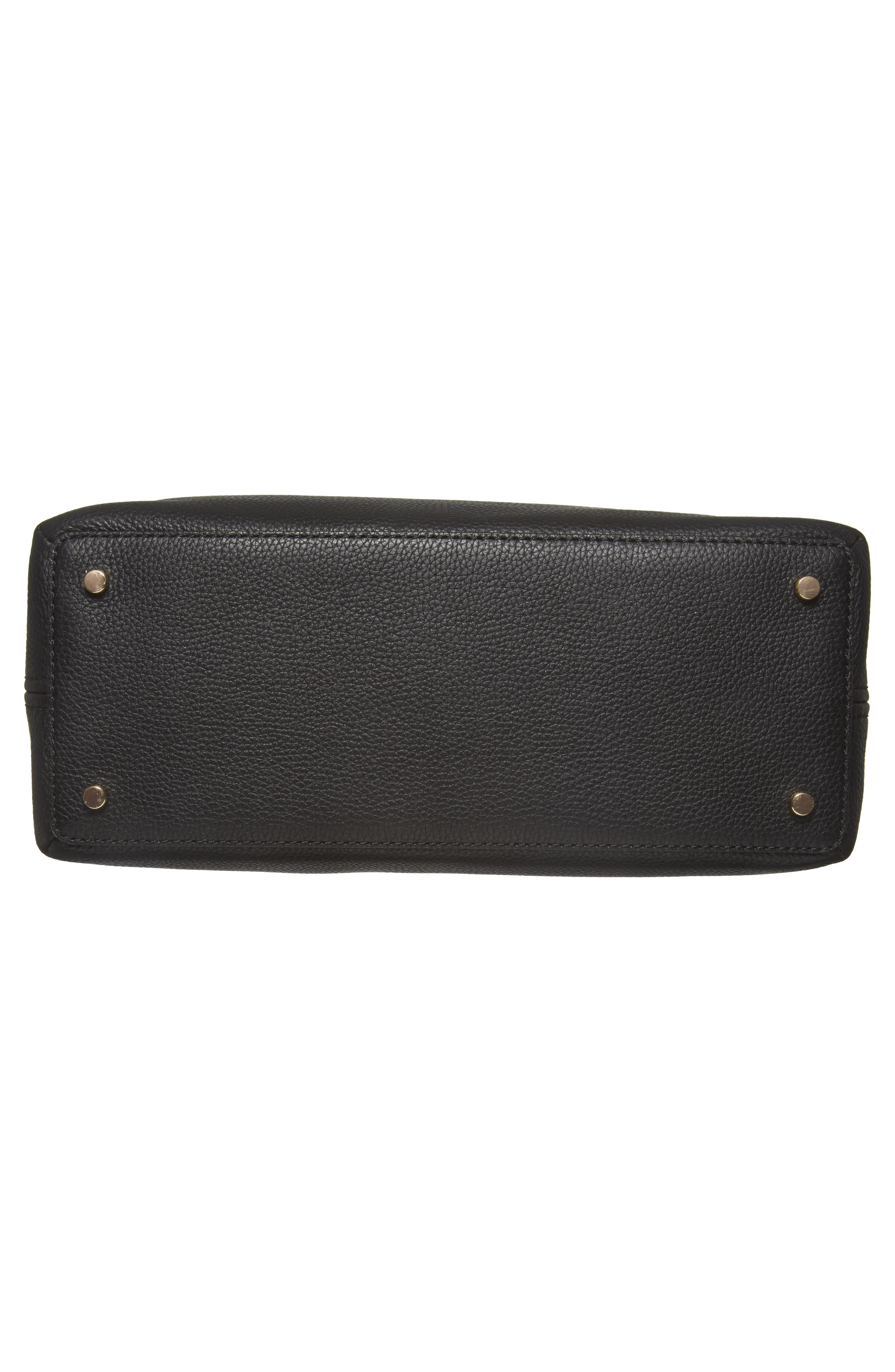jackson street arietta pebbled leather tote,                             Alternate thumbnail 6, color,                             Black