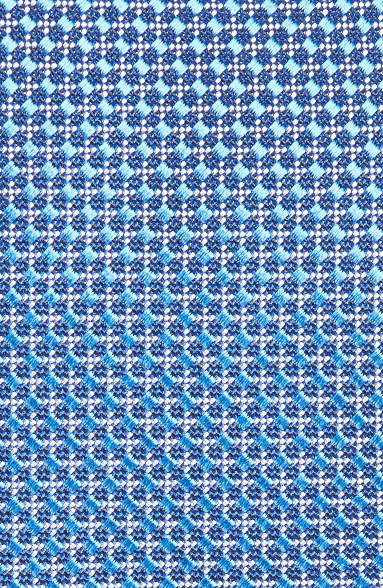 Geometric Neat Silk Skinny Tie,                             Alternate thumbnail 2, color,                             Blue
