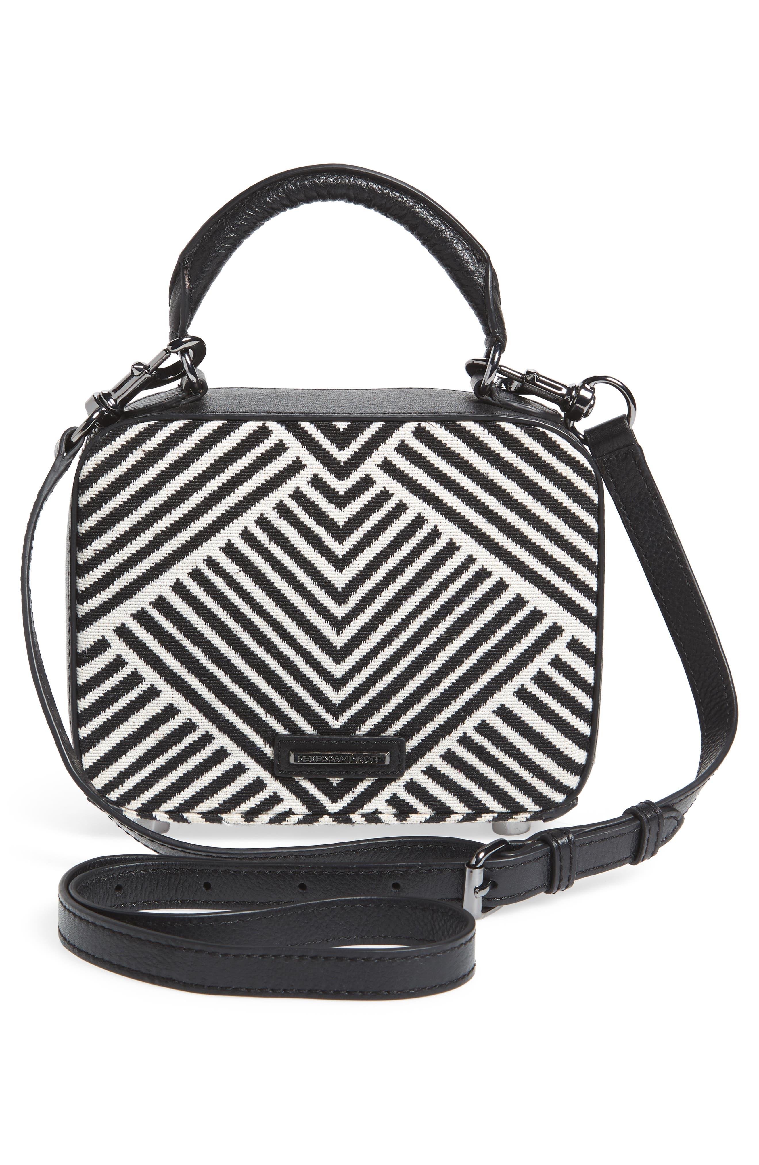 Wonder Box Embellished Crossbody Bag,                             Alternate thumbnail 3, color,                             Black Metallic Multi