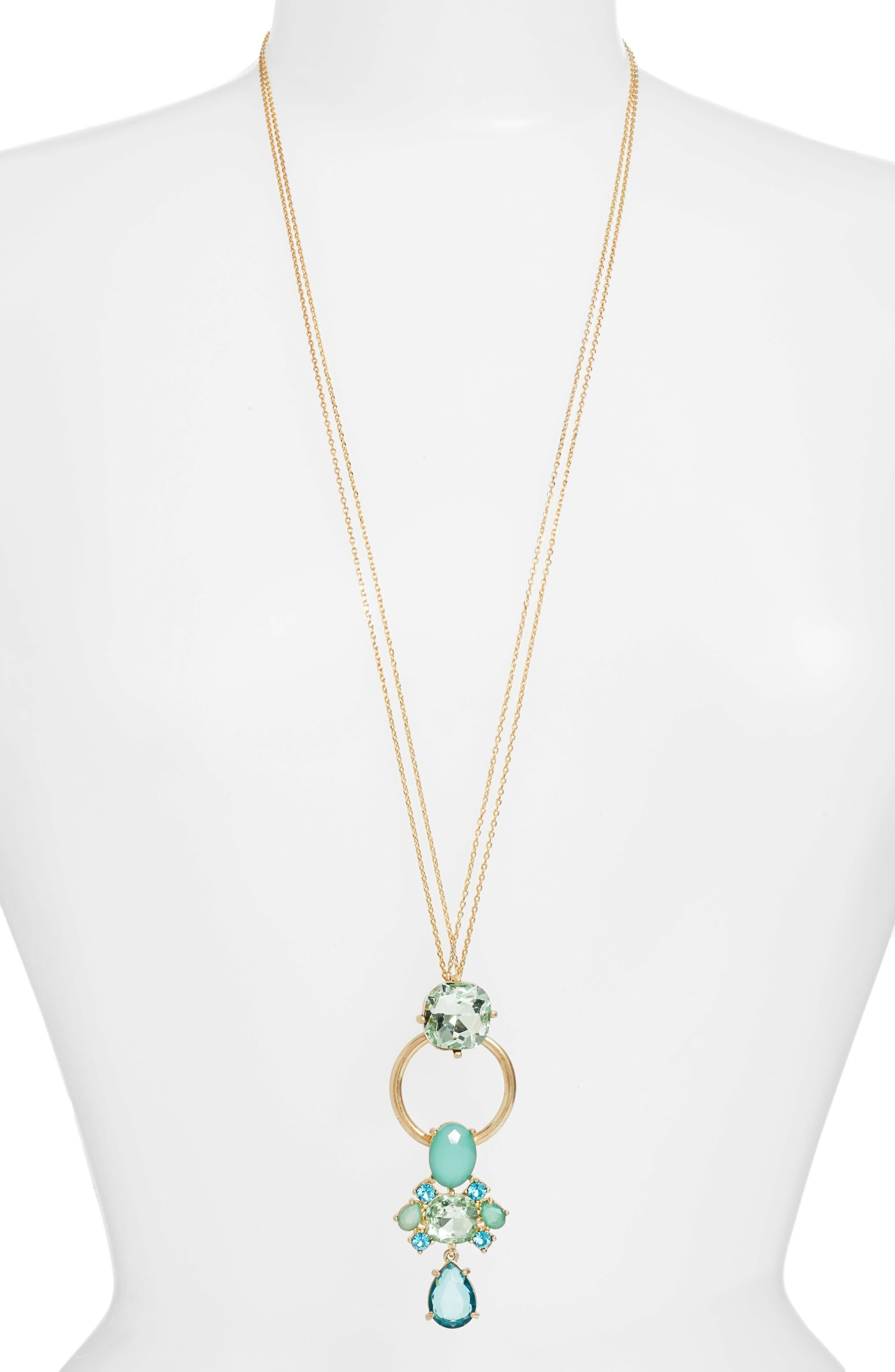Alternate Image 1 Selected - Halogen® Jewel Pendant Necklace