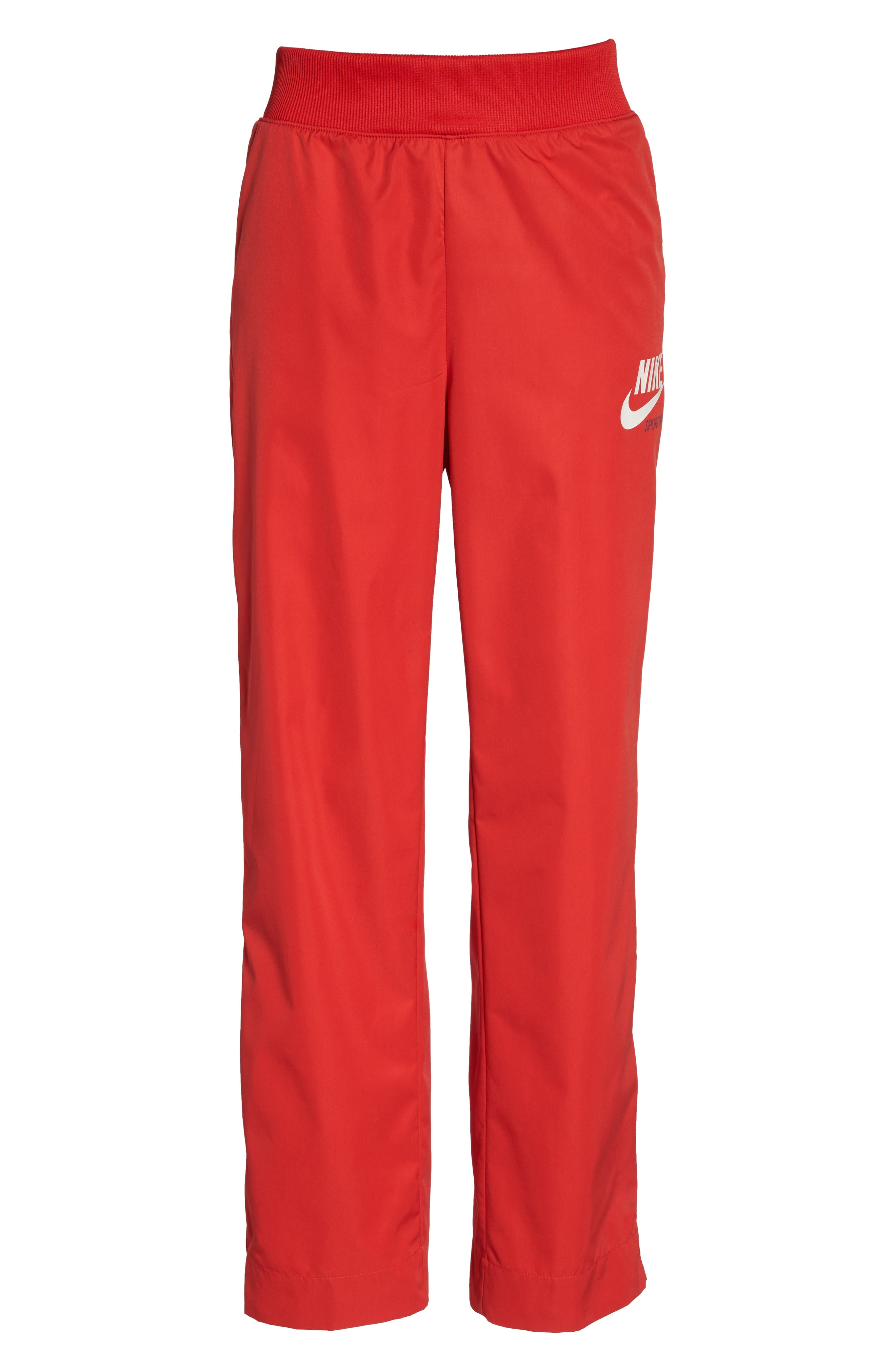 Sportswear Archive Snap Track Pants,                             Alternate thumbnail 4, color,                             University Red/ Thunder Blue