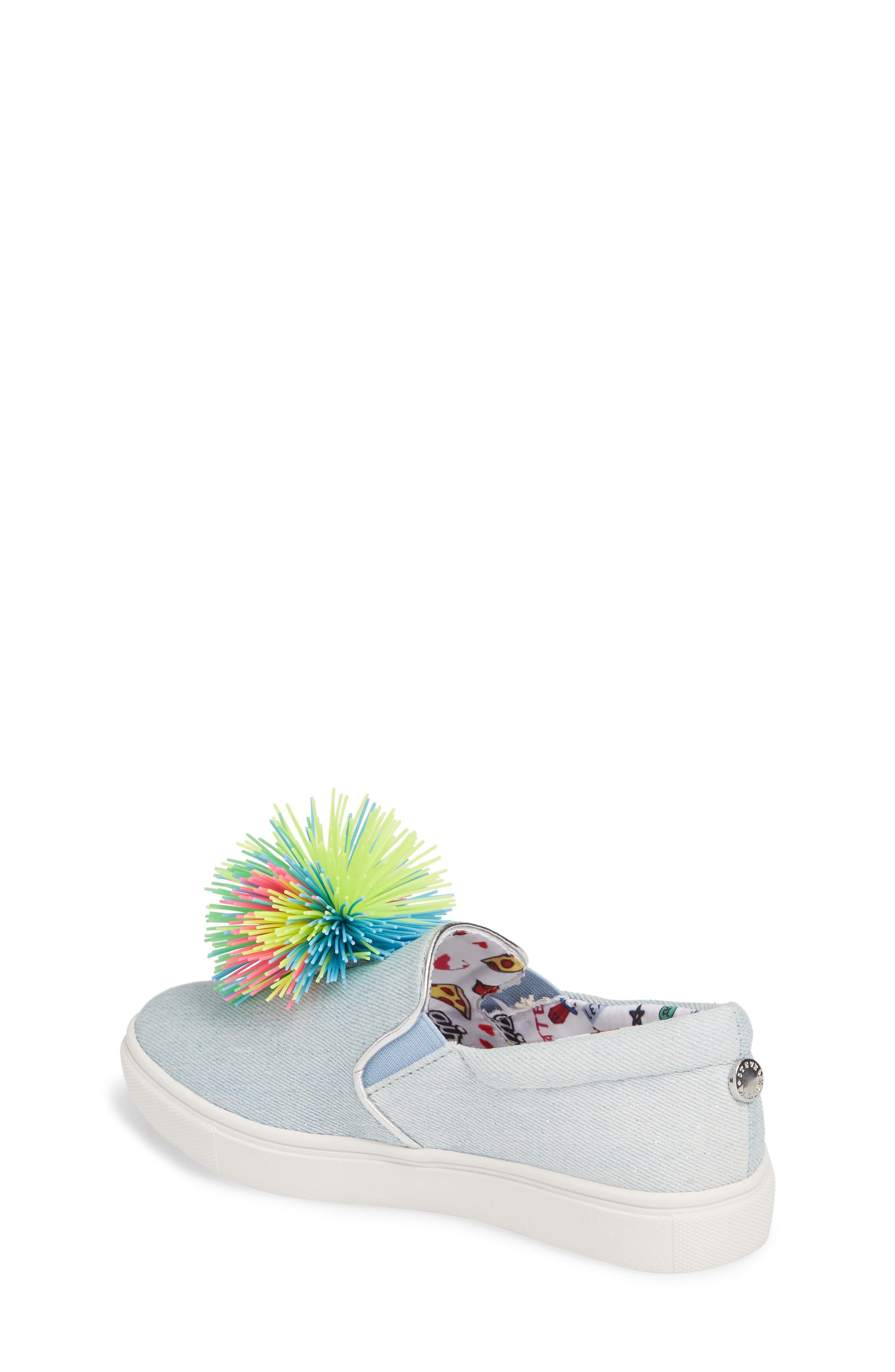 Alternate Image 2  - Steve Madden Pompom Slip-On Sneaker (Little Kid & Big Kid)