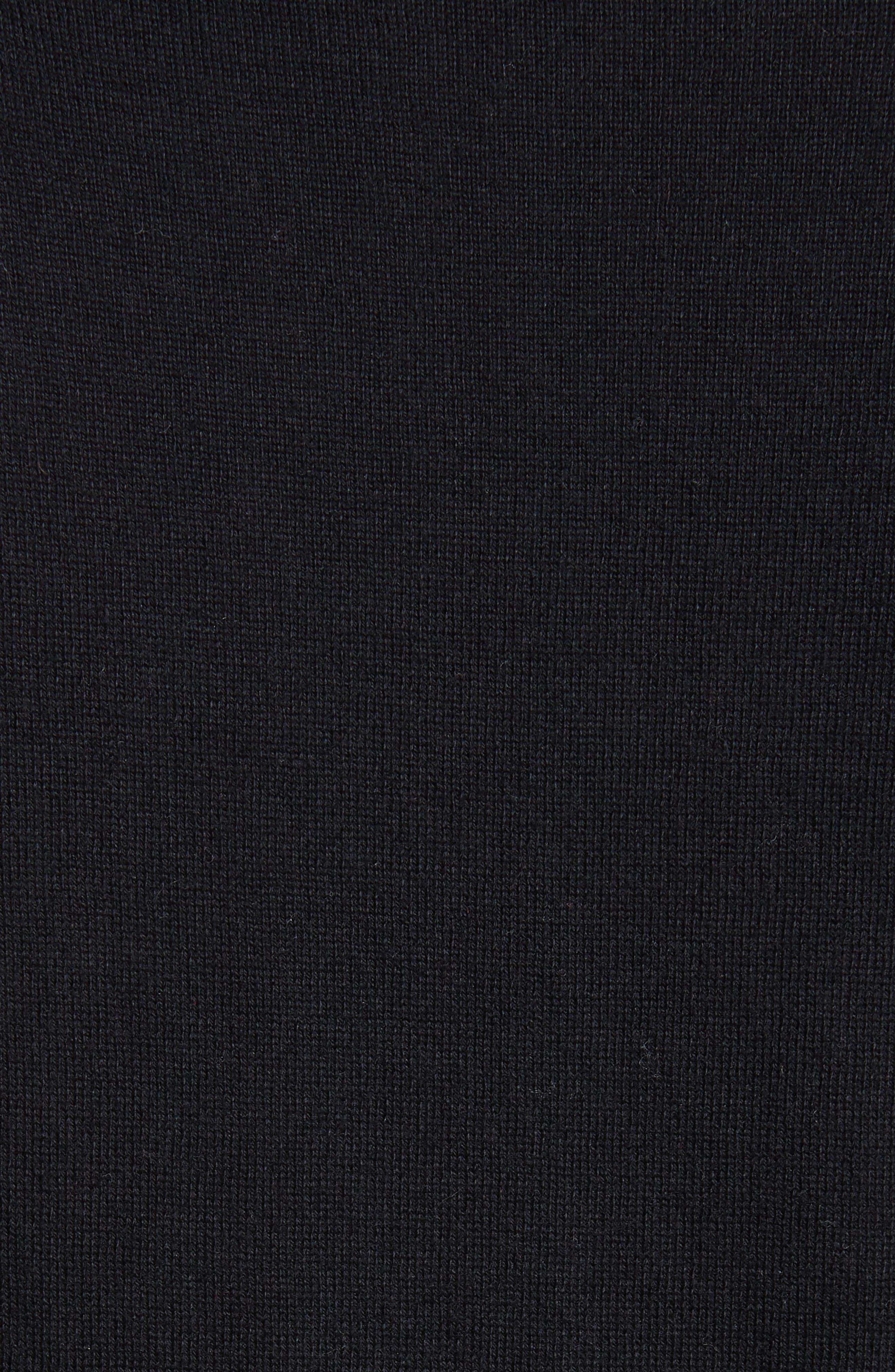 bloom floral lace cardigan,                             Alternate thumbnail 5, color,                             Black