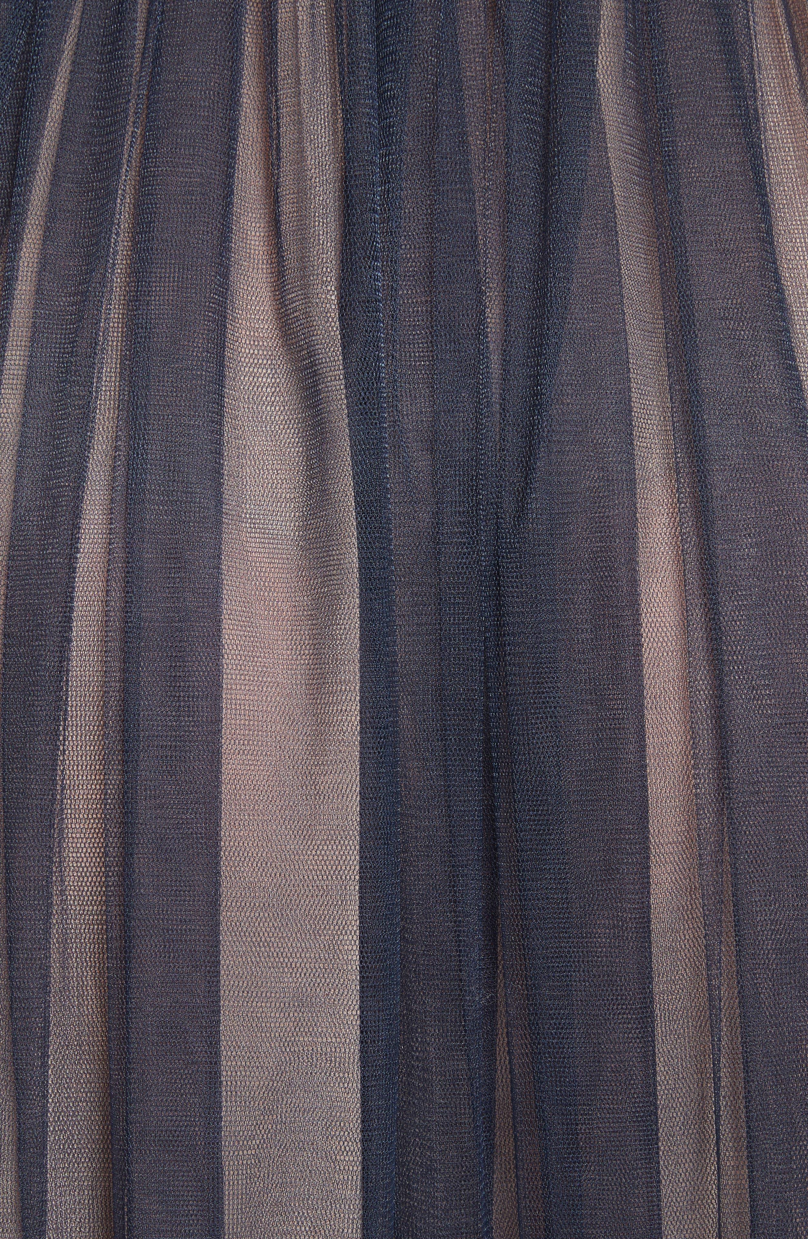 Coletta Asymmetrical Tulle Dress,                             Alternate thumbnail 5, color,                             Navy