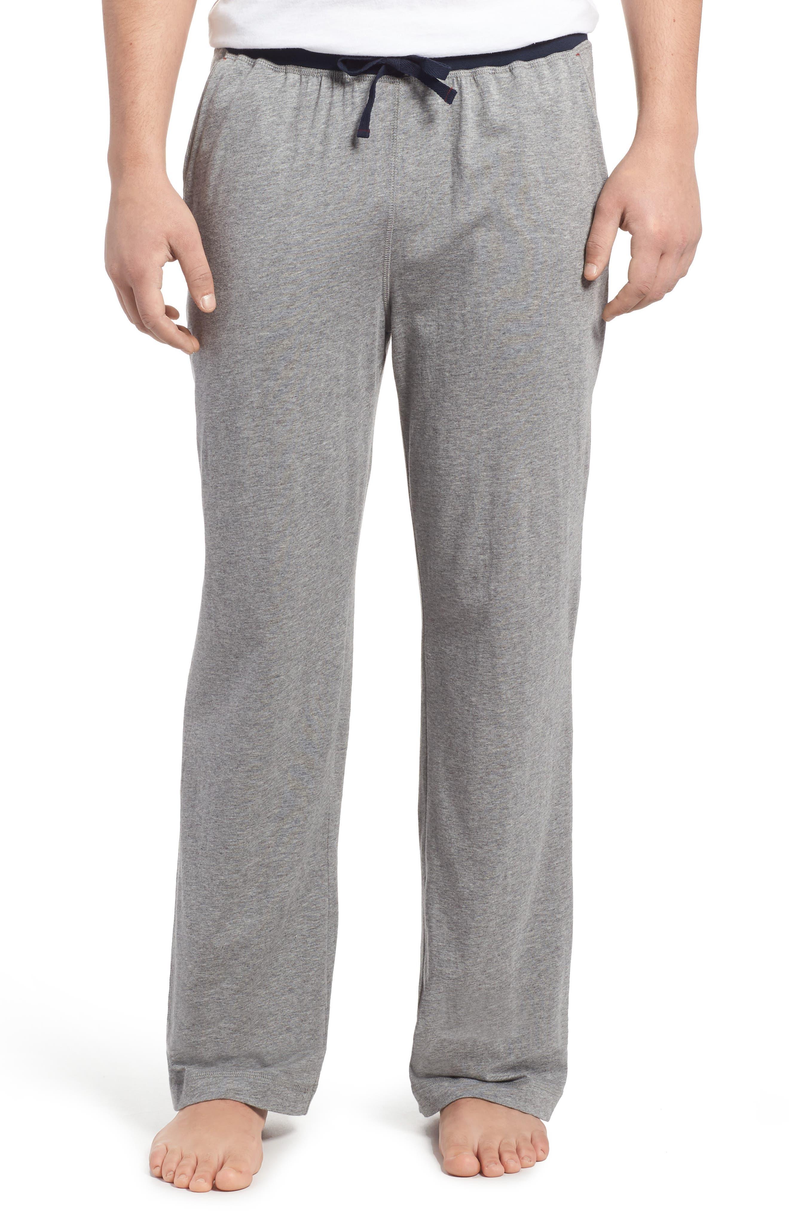 Pima Cotton & Modal Lounge Pants,                             Main thumbnail 1, color,                             Grey Heather