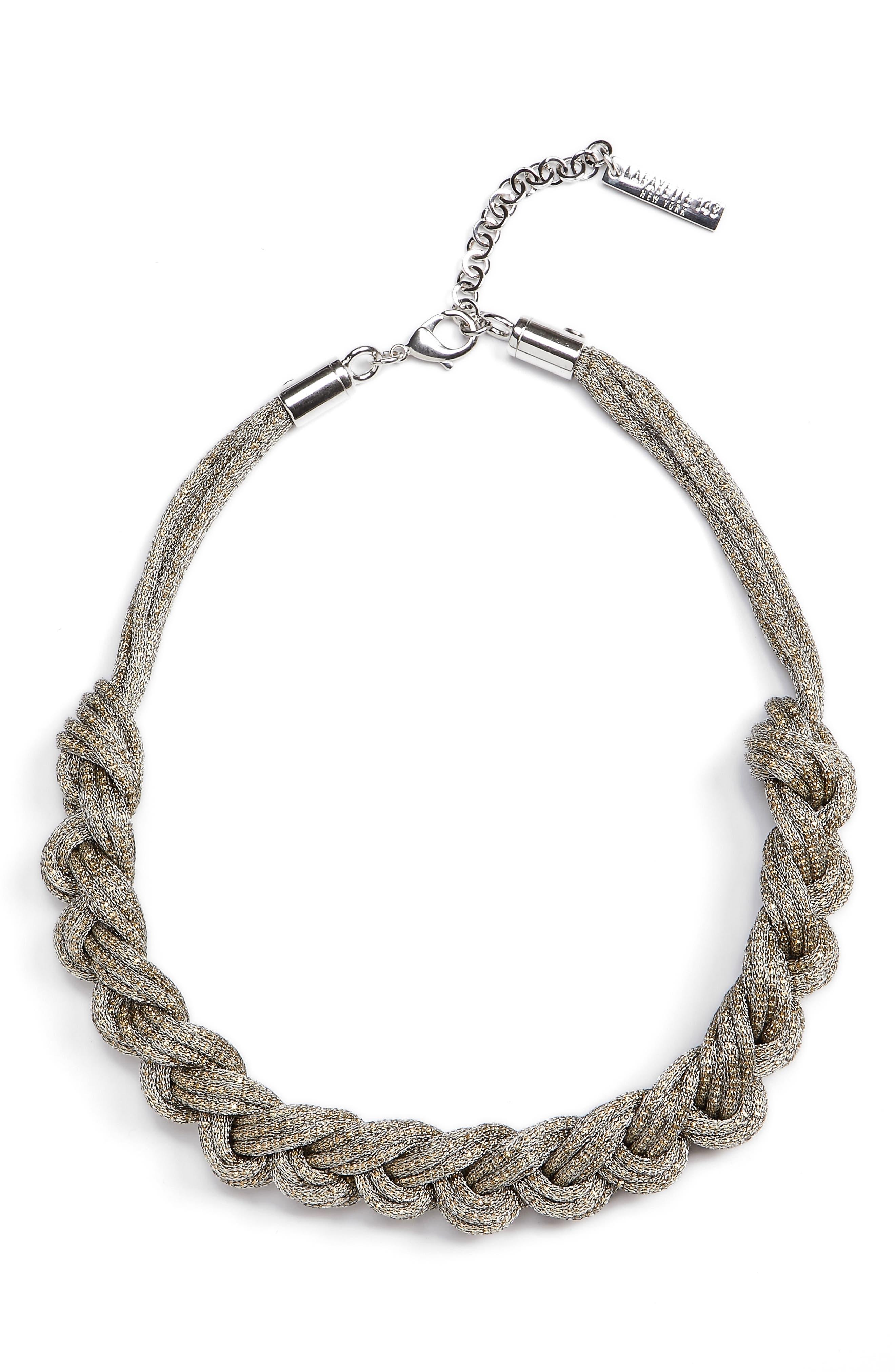 Main Image - Lafayette 148 New York Braided Mesh Necklace