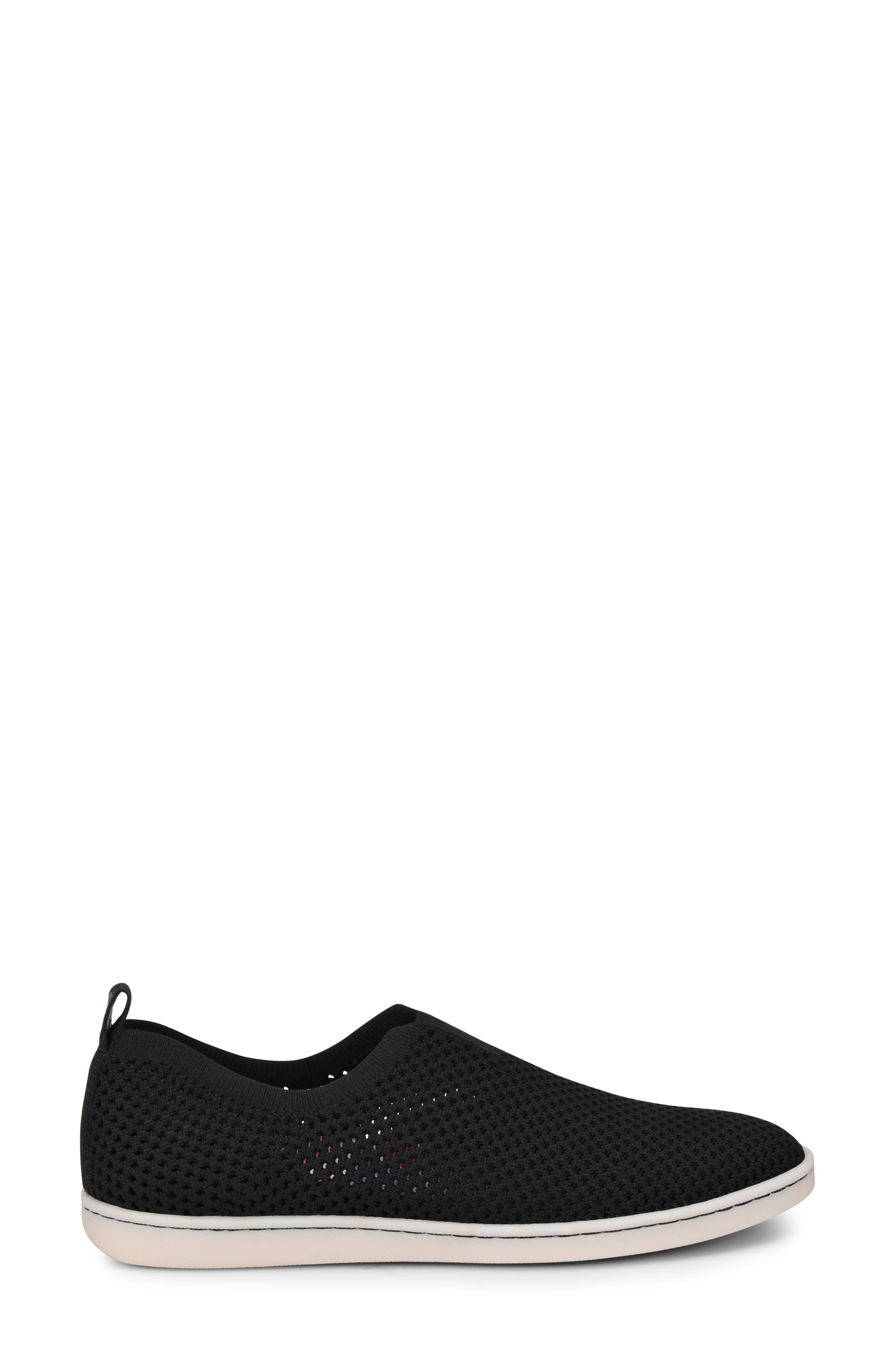 Hazy Slip-On Sneaker,                             Alternate thumbnail 3, color,                             Black Fabric