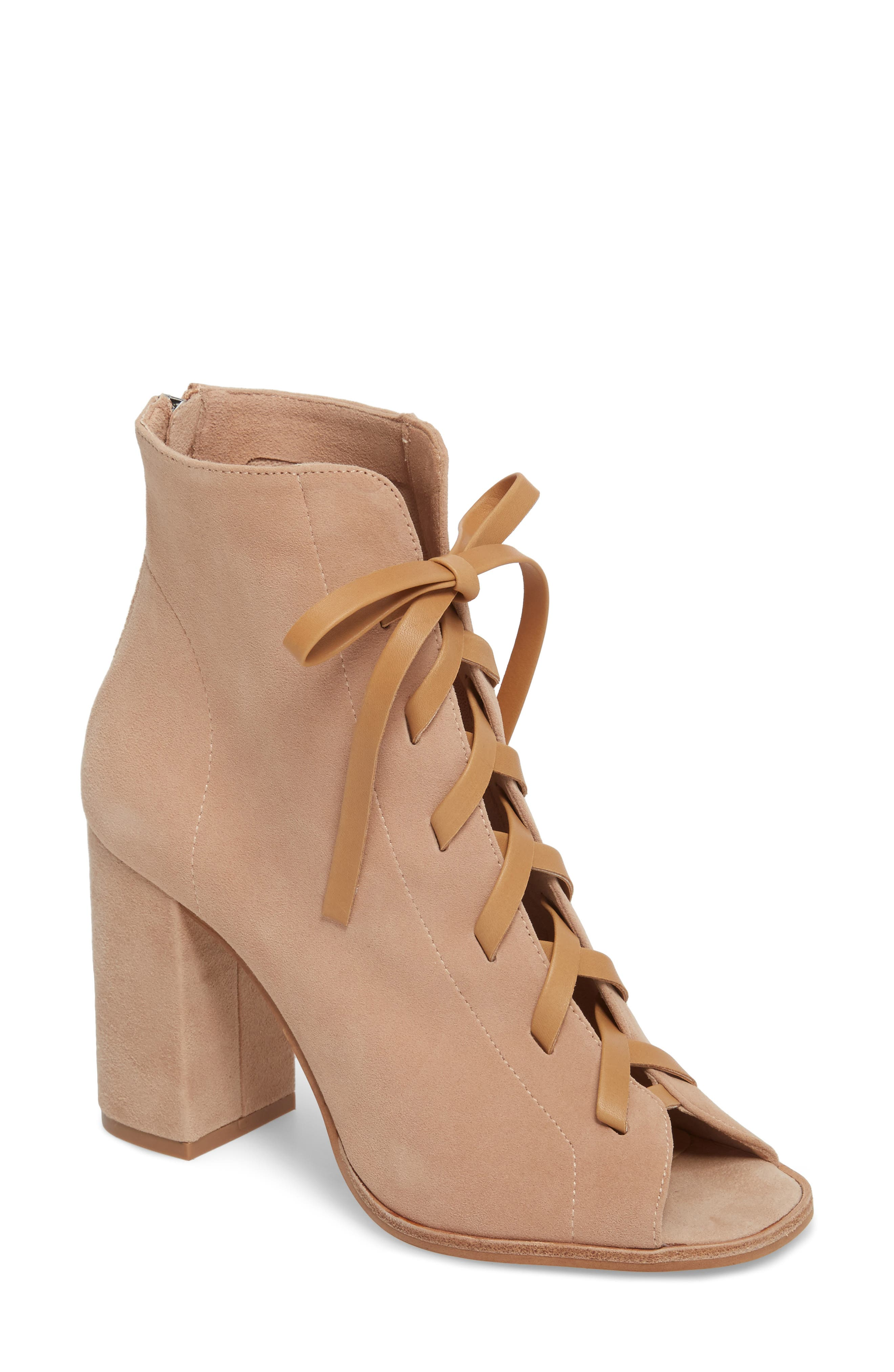 Layton Lace-Up Boot,                             Main thumbnail 1, color,                             Tigers Eye Suede