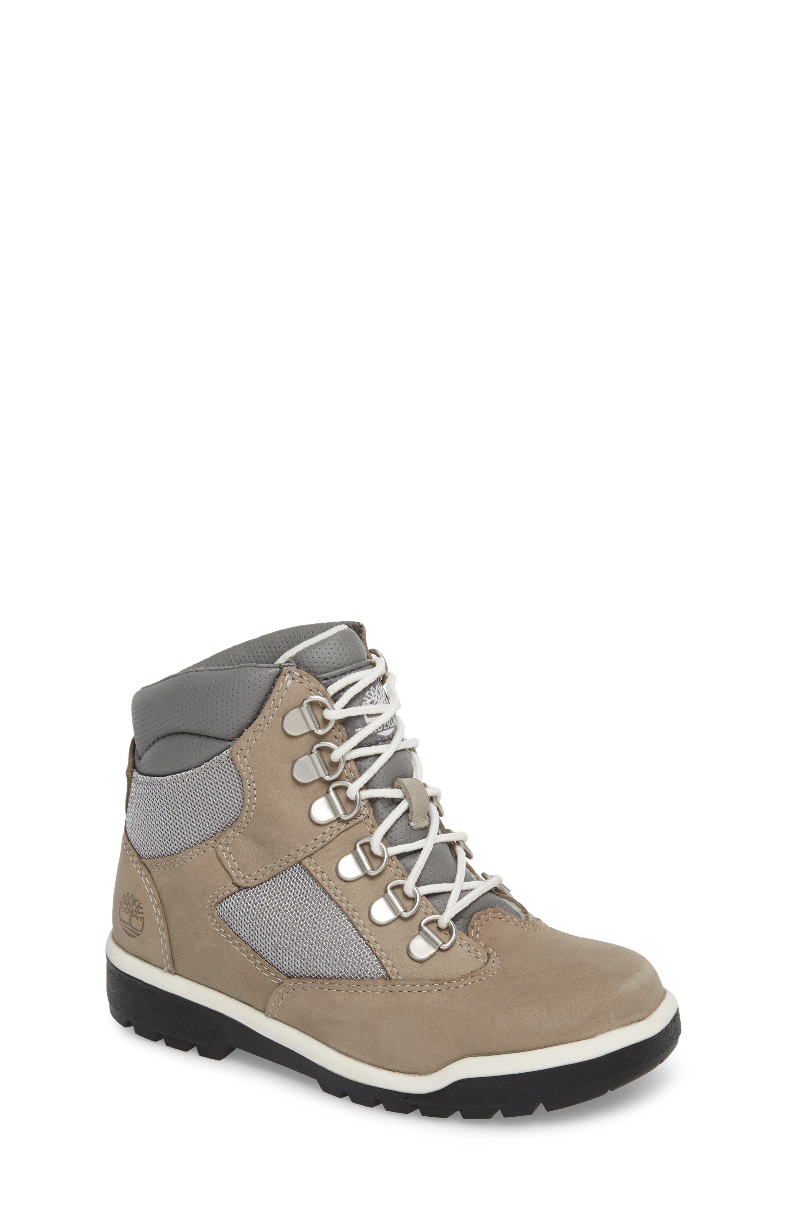 Water-Resistant 6-Inch Field Boot,                         Main,                         color, Lite Grey