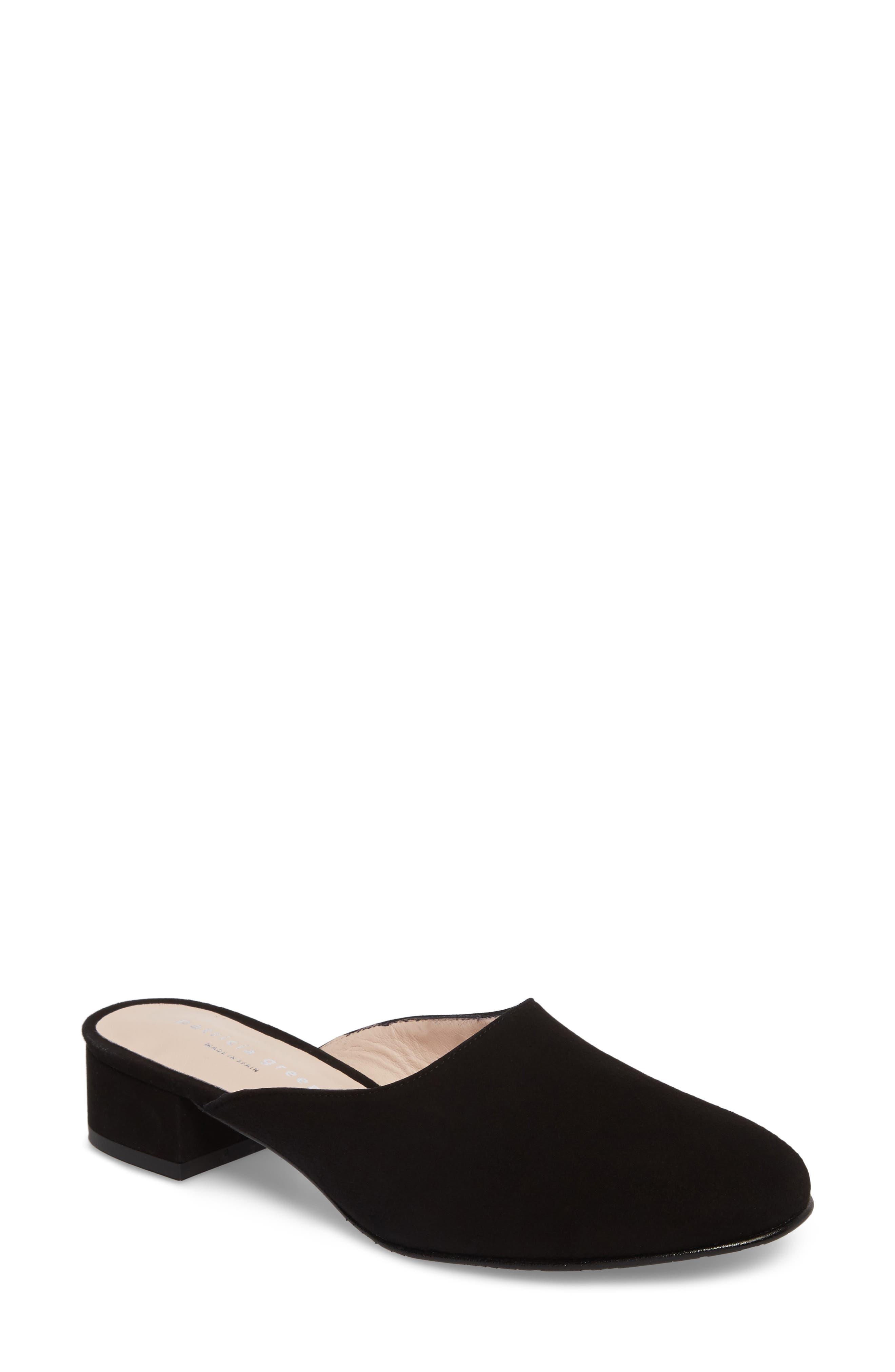 Ava Block Heel Mule,                         Main,                         color, Black Suede