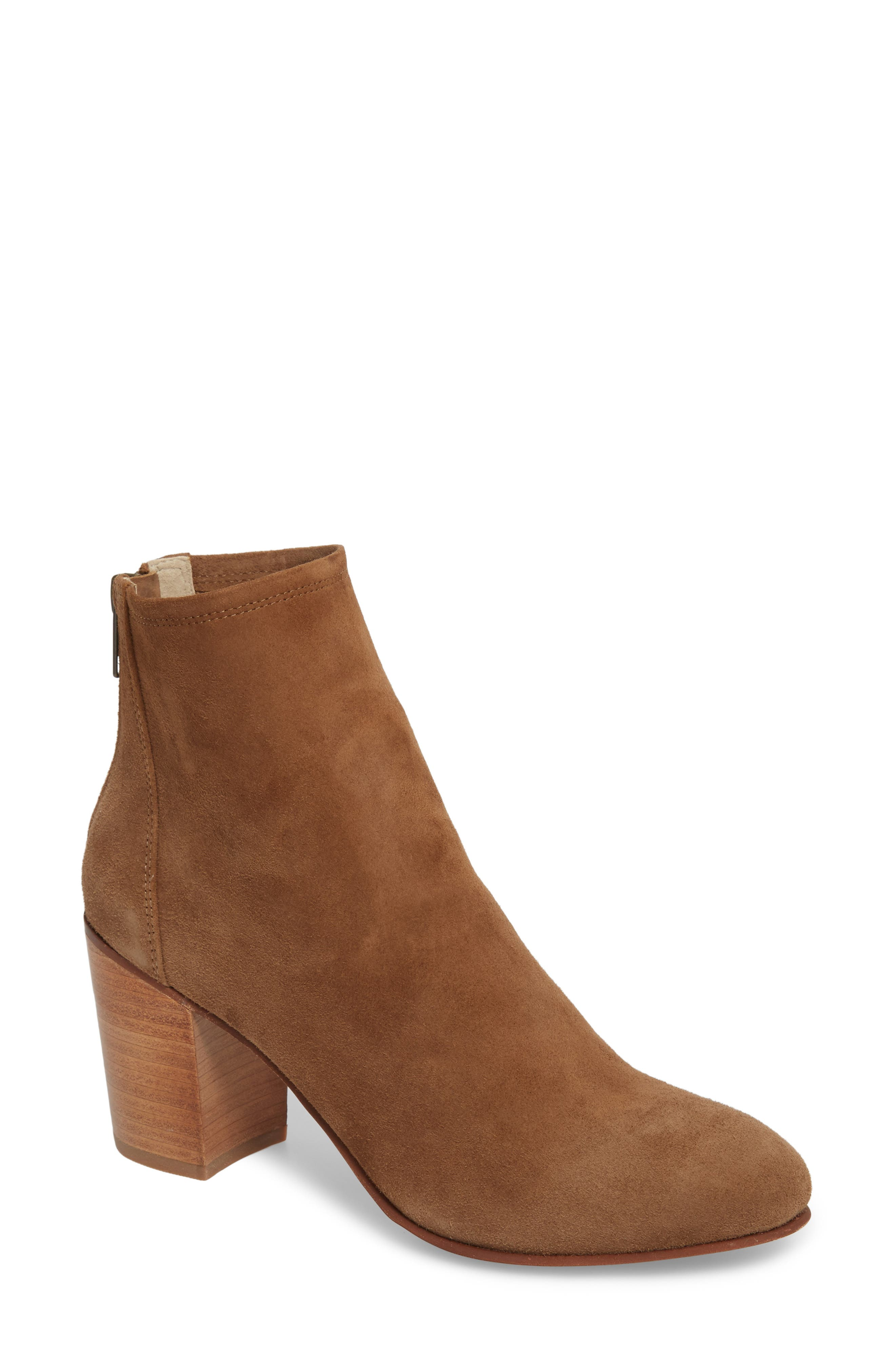 Tawny Bootie,                             Main thumbnail 1, color,                             Khaki Suede