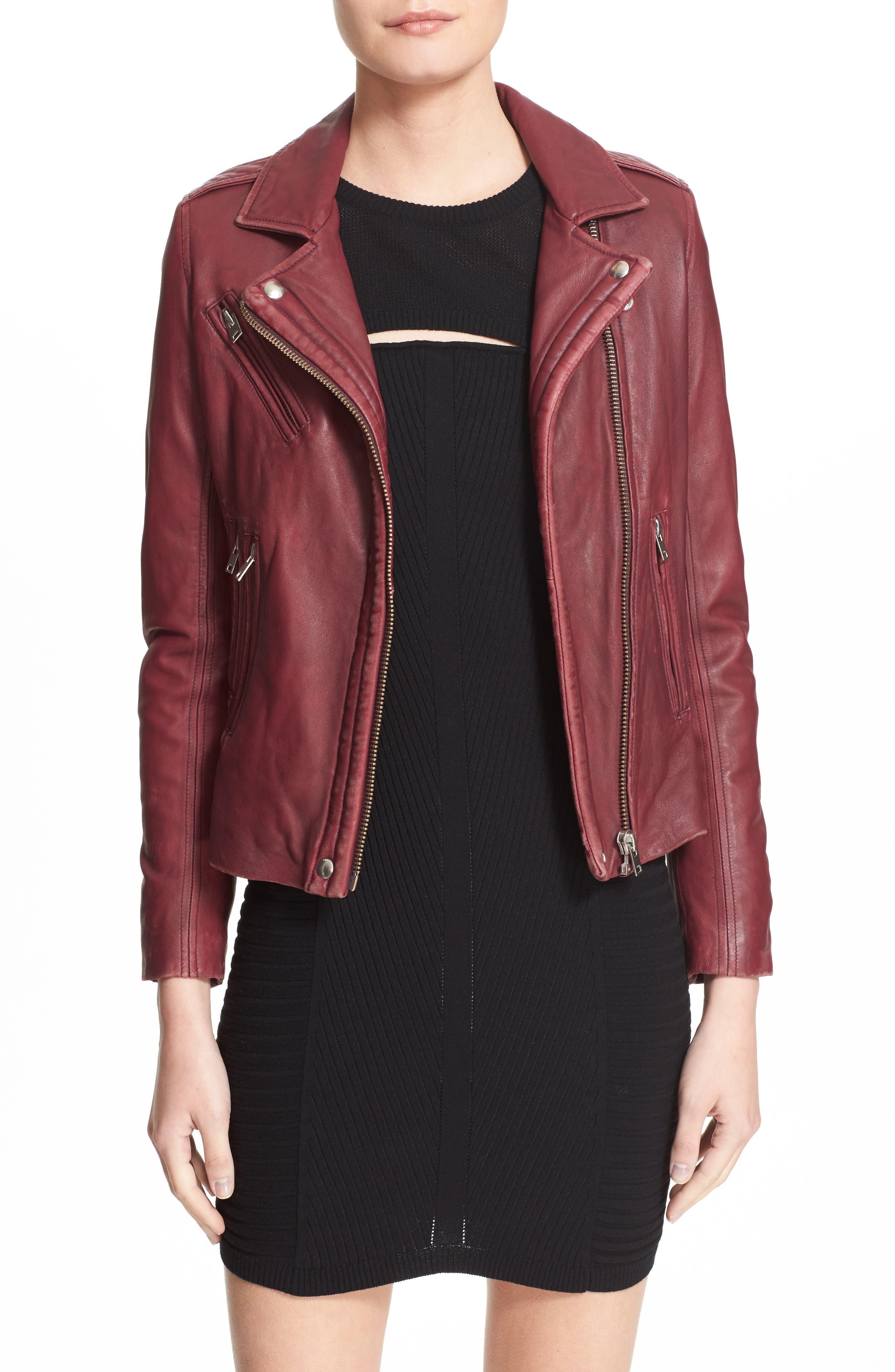Main Image - IRO Leather Moto Jacket