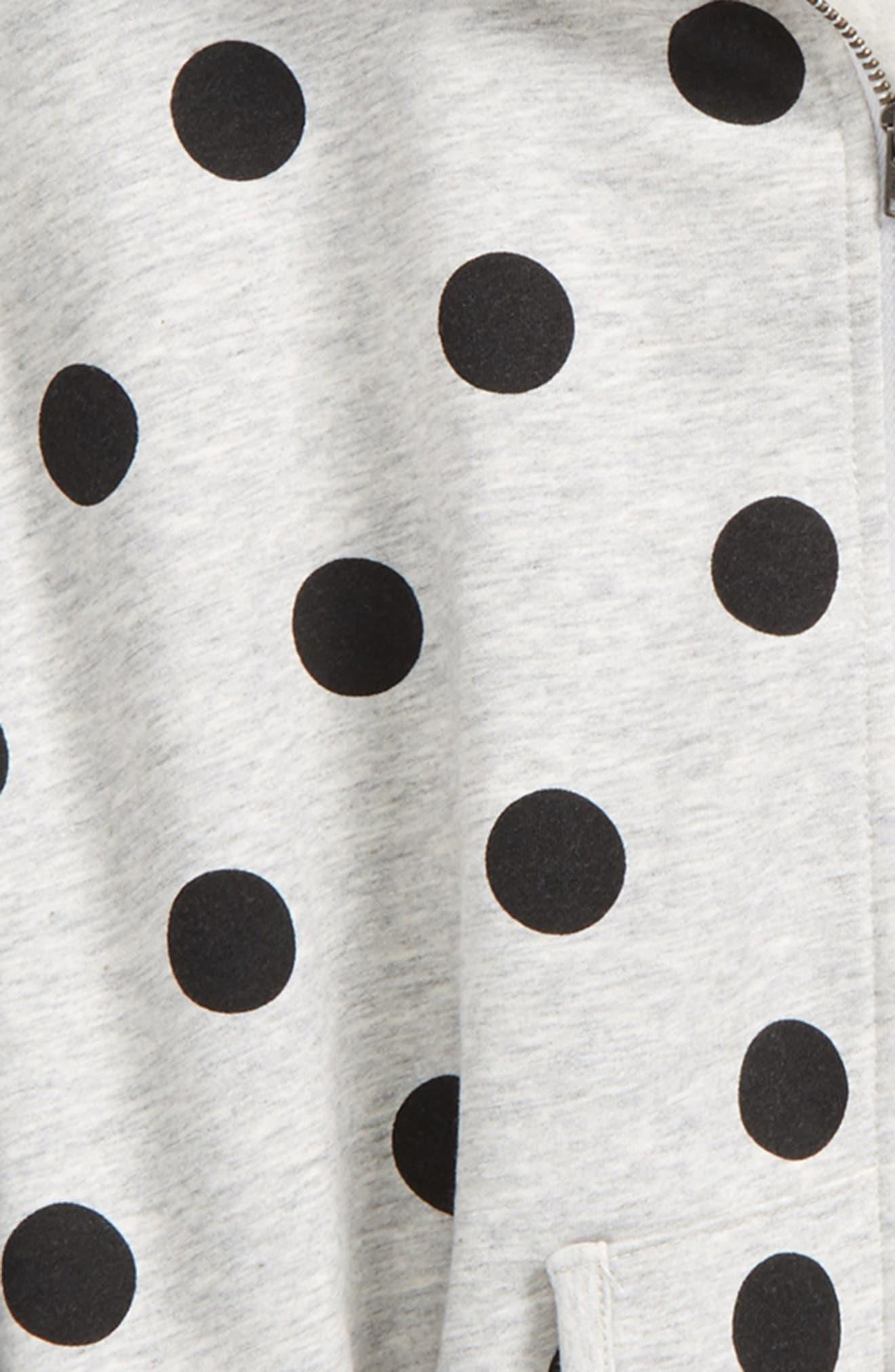 Polka Dot Hooded Cape,                             Alternate thumbnail 2, color,                             Grey Ash Heather Girly Dot