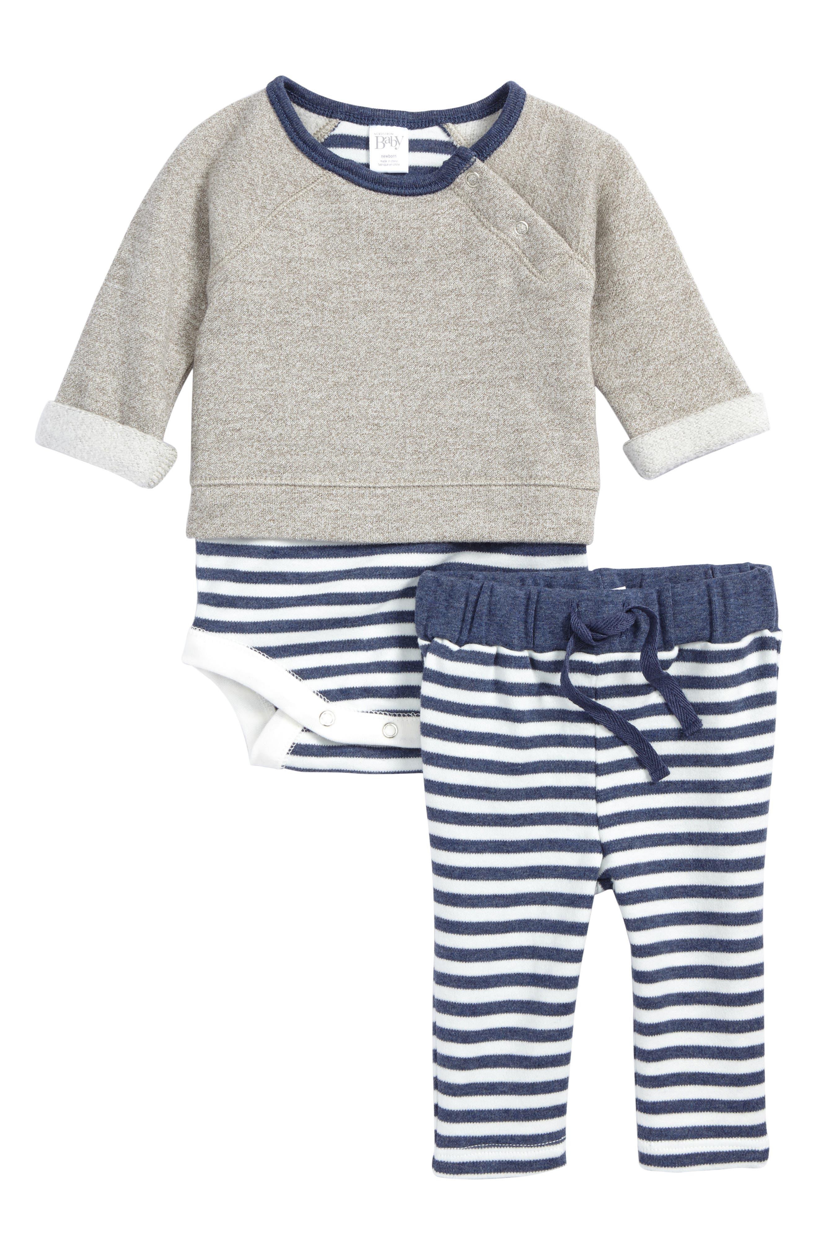 Alternate Image 1 Selected - Nordstrom Baby Bodysuit & Pants Set (Baby Boys)