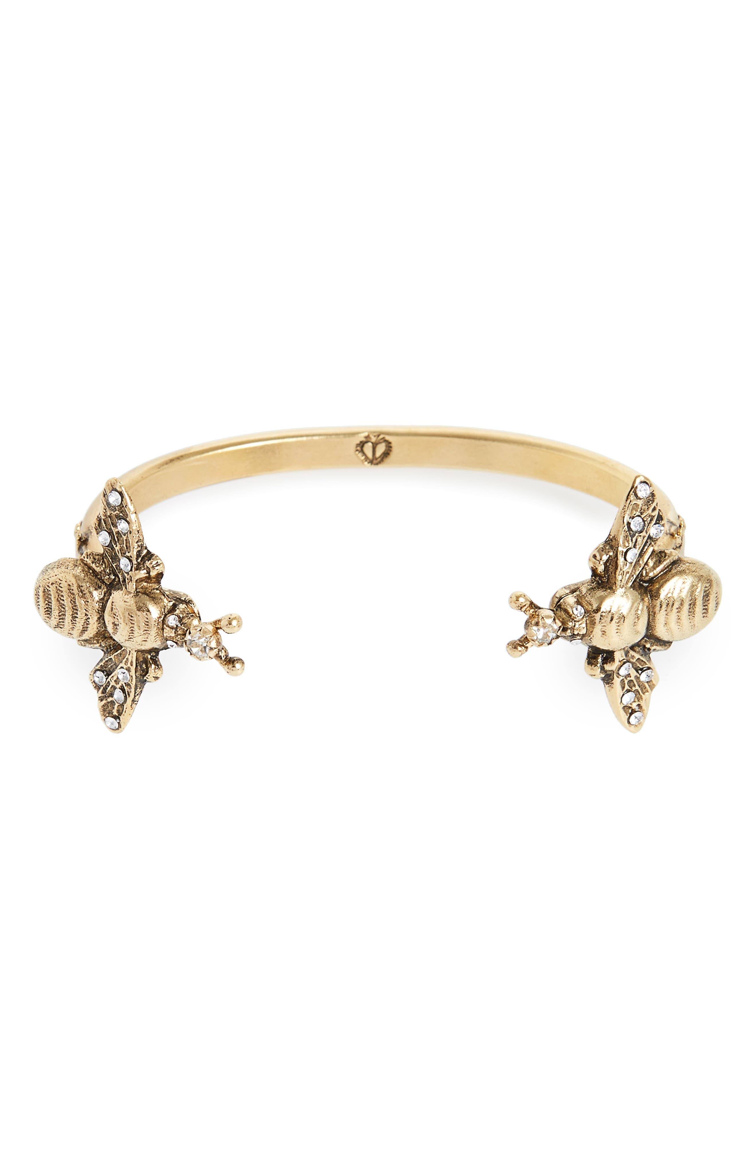 Bee Mine Cuff Bracelet,                             Main thumbnail 1, color,                             Gold