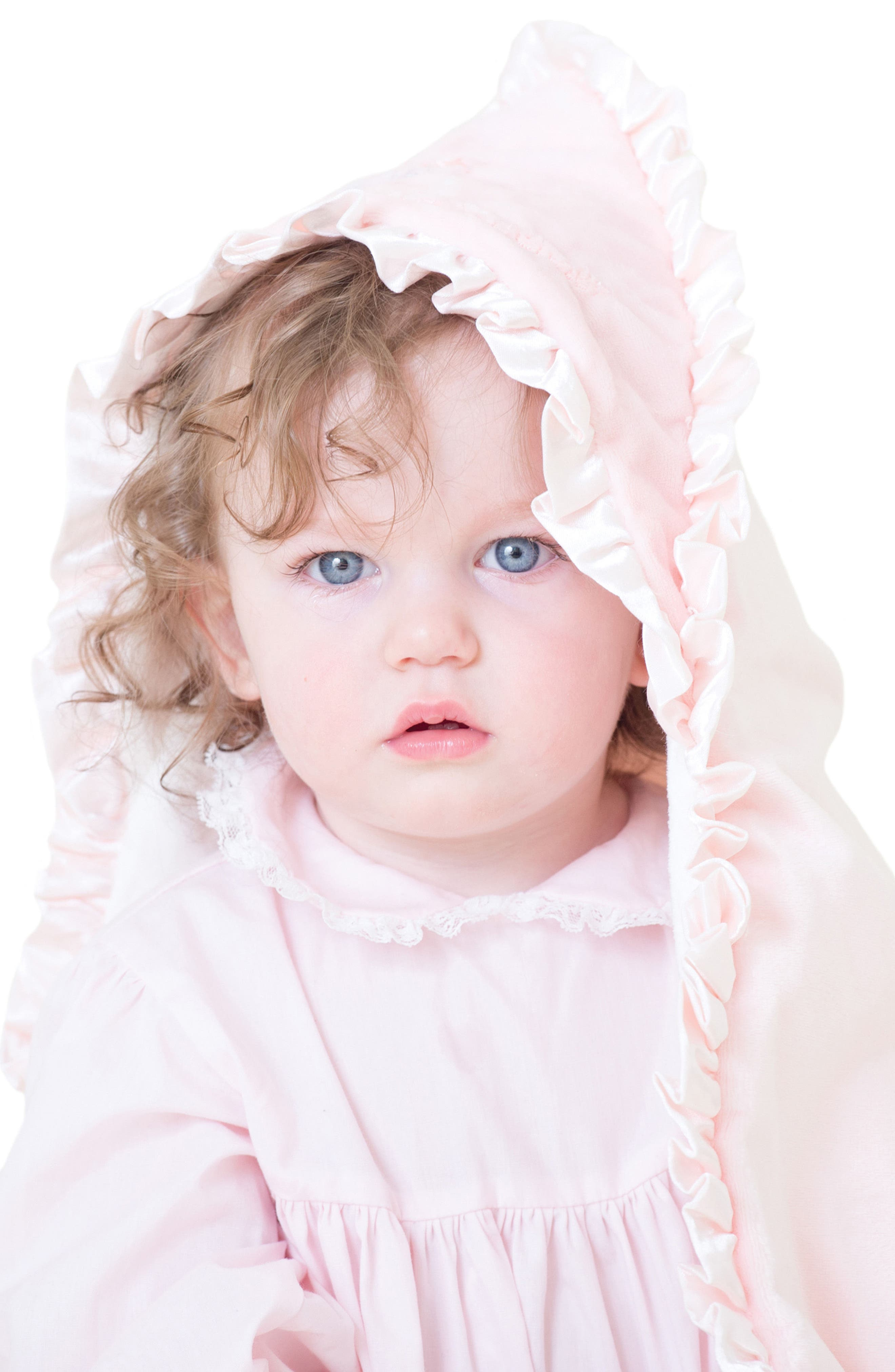Hooded Blanket & Stuffed Toy Set,                             Alternate thumbnail 2, color,                             Baby Pink