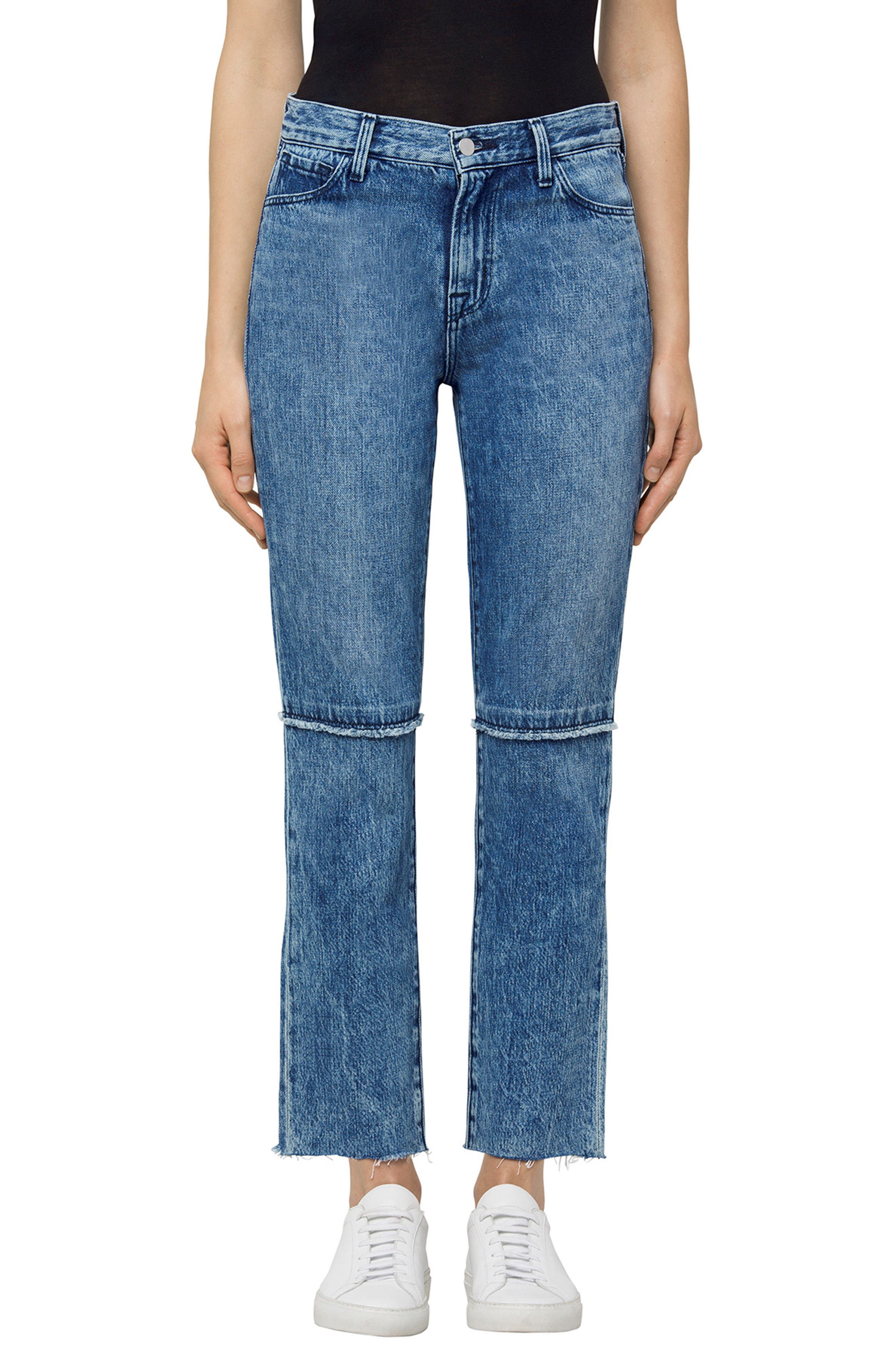 Ruby High Waist Crop Jeans,                             Main thumbnail 1, color,                             Satellite