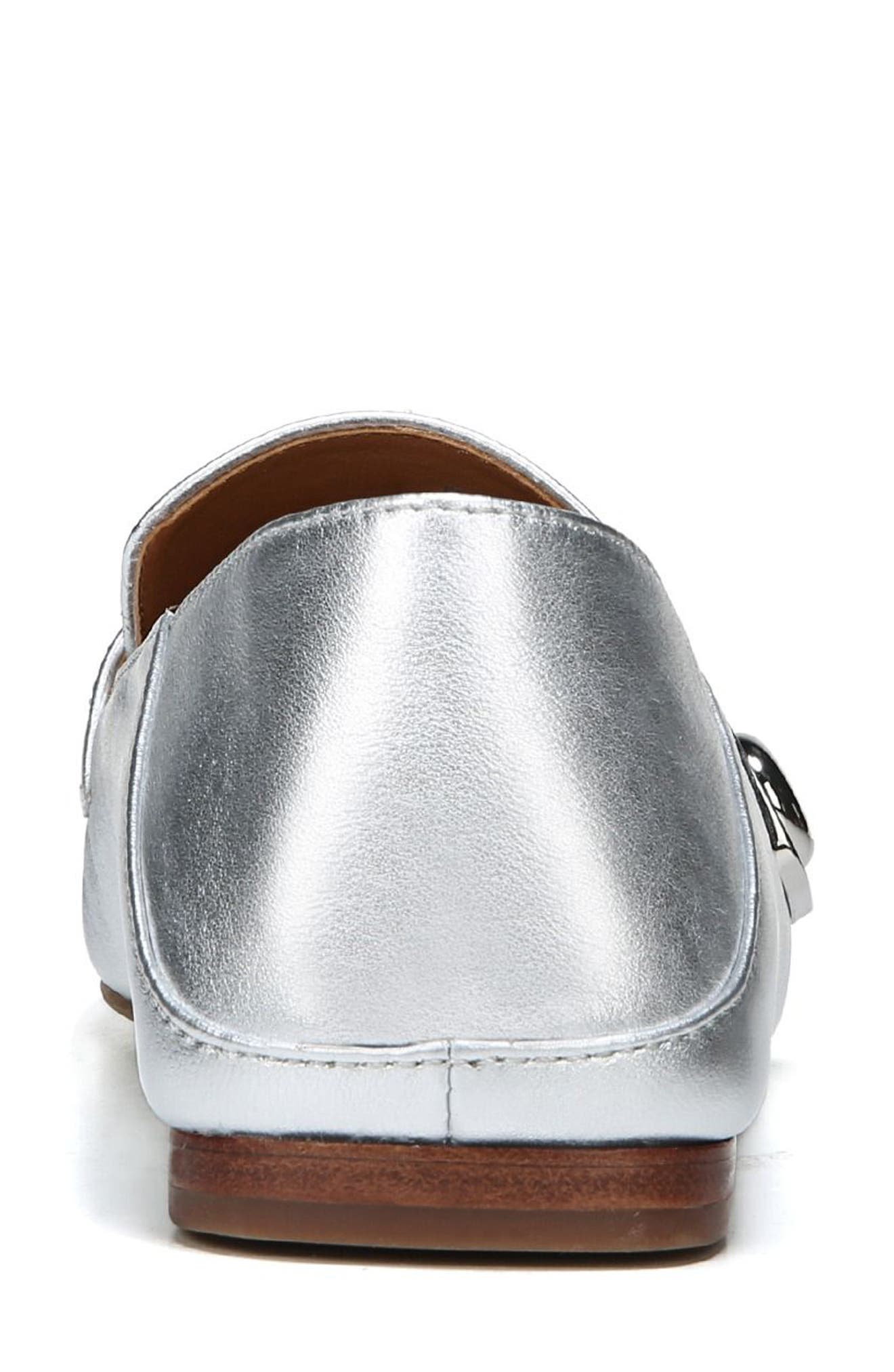 Valeres Loafer,                             Alternate thumbnail 7, color,                             Silver Metallic Leather