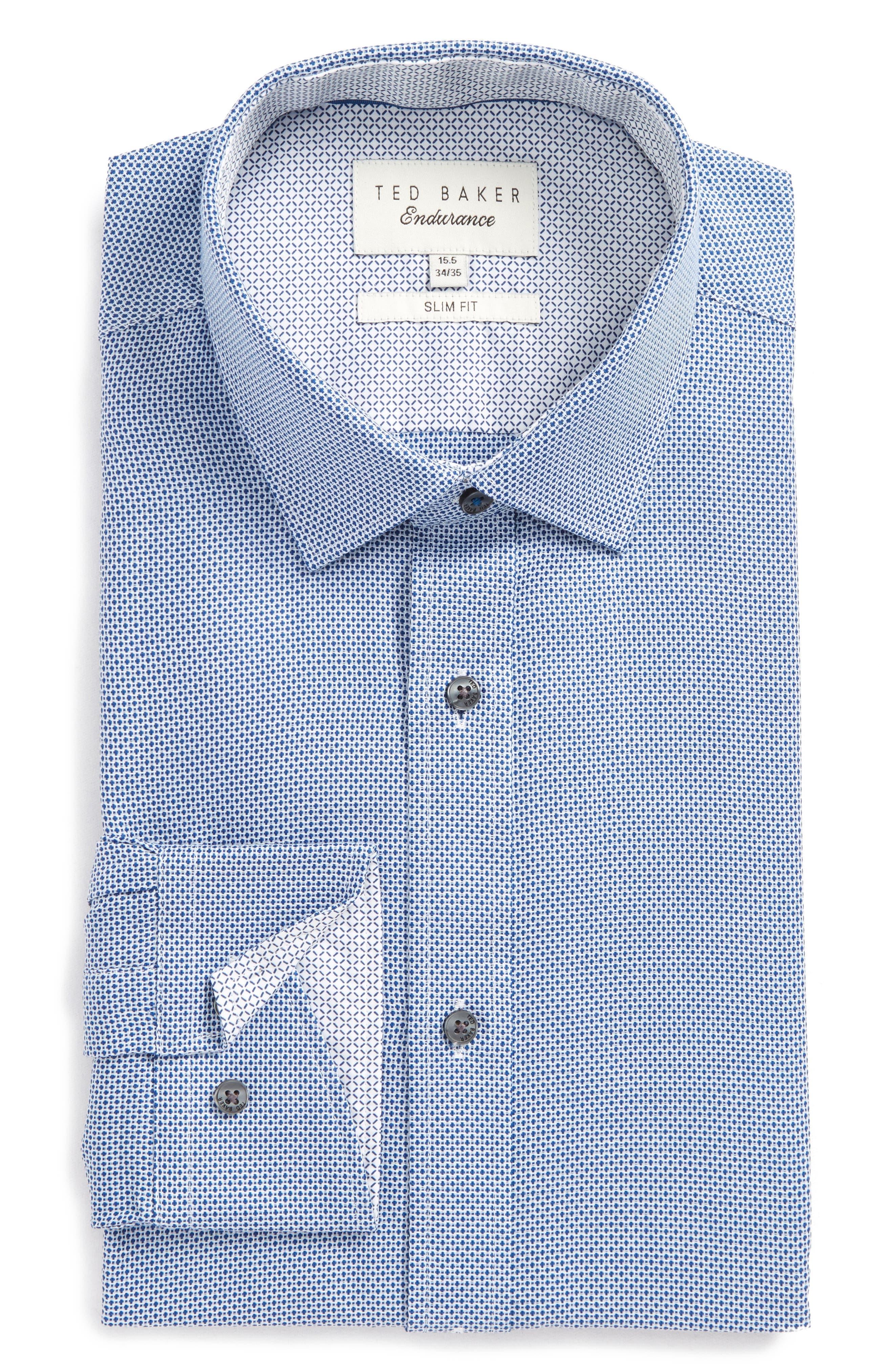 Main Image - Ted Baker London Slim Fit Geometric Dress Shirt