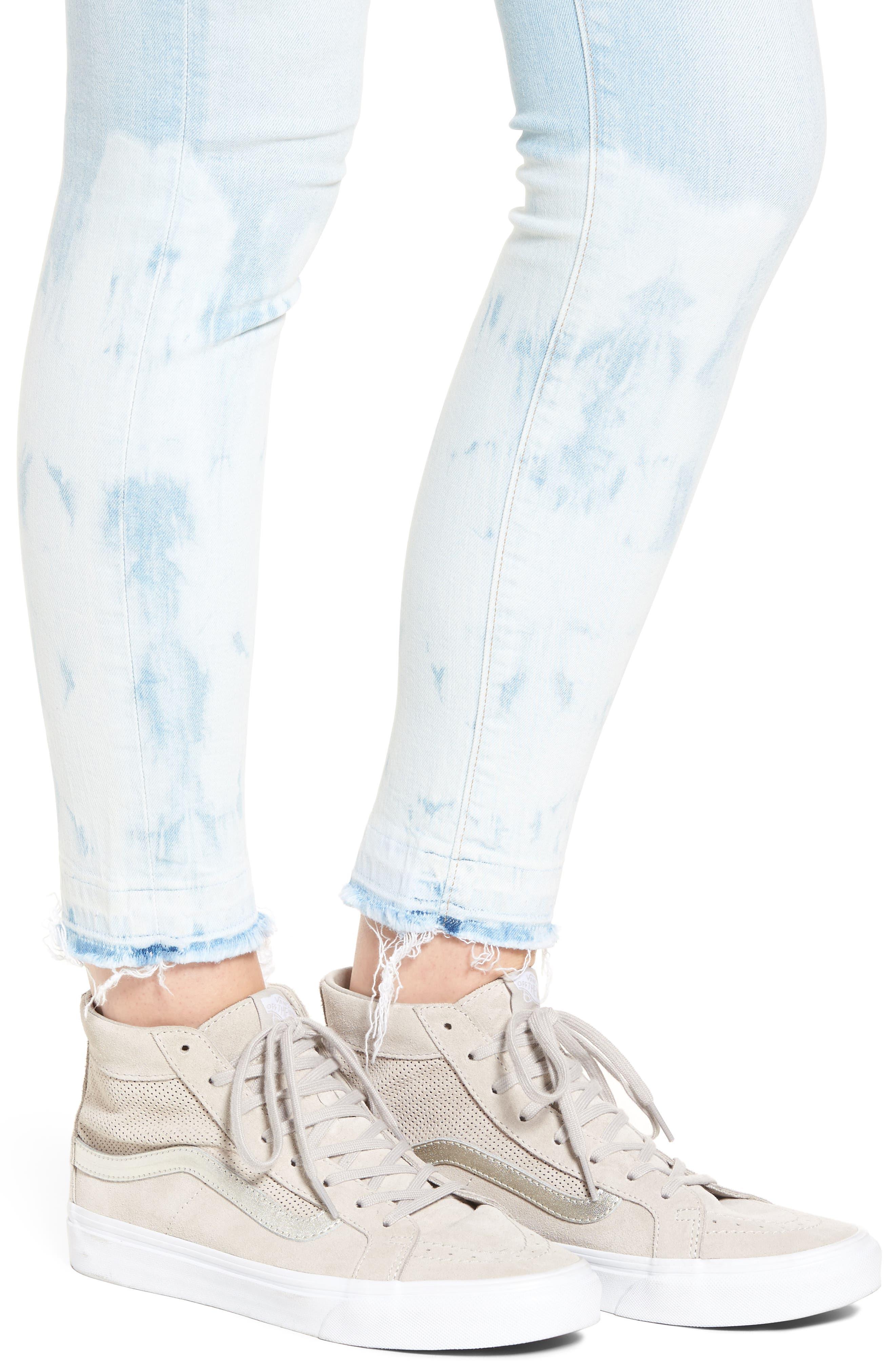 Empire Ankle Skinny Jeans,                             Alternate thumbnail 4, color,                             Beach Break