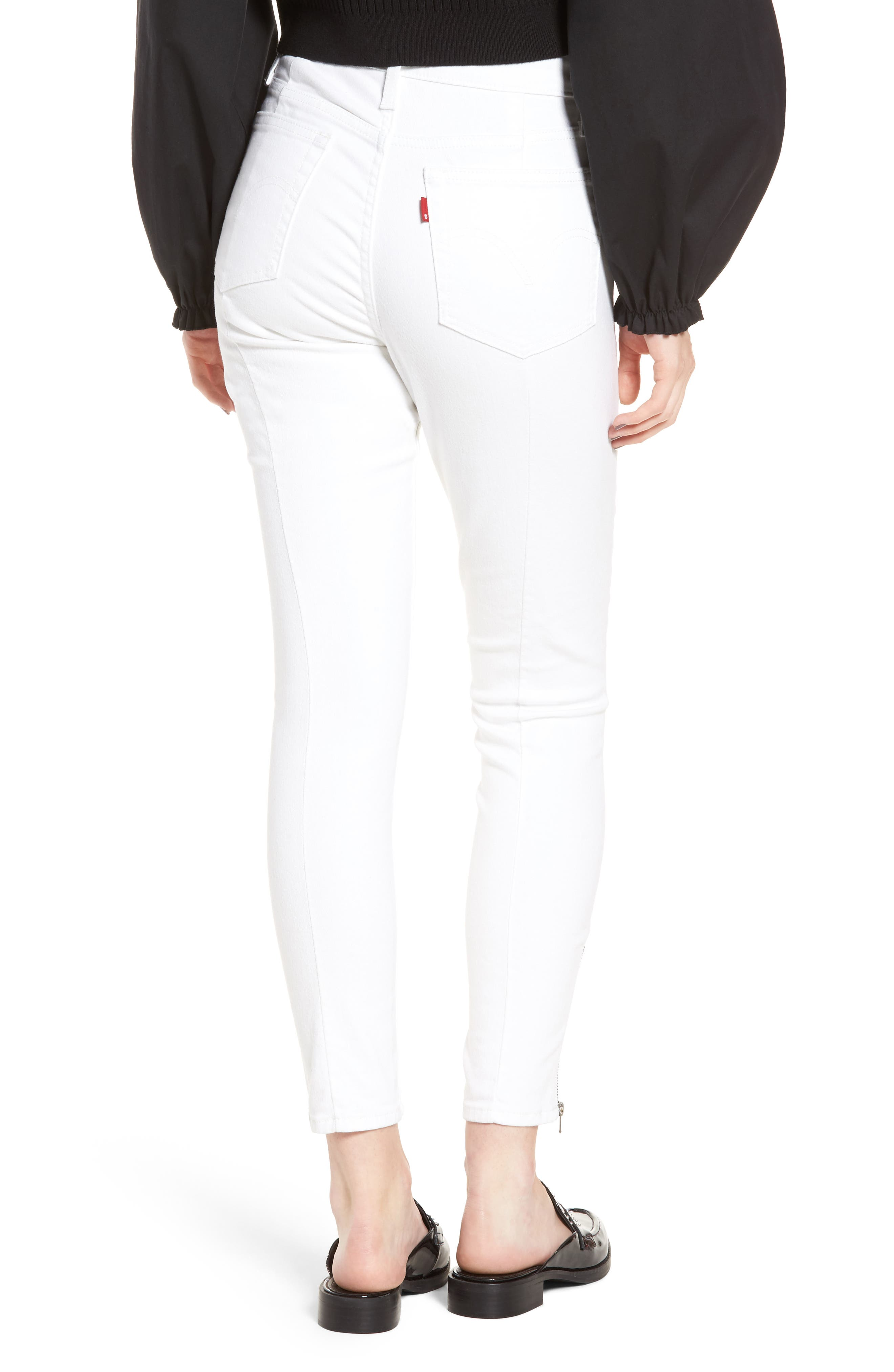 721<sup>™</sup> Altered High Rise Ankle Skinny Jeans,                             Alternate thumbnail 2, color,                             Seeing White