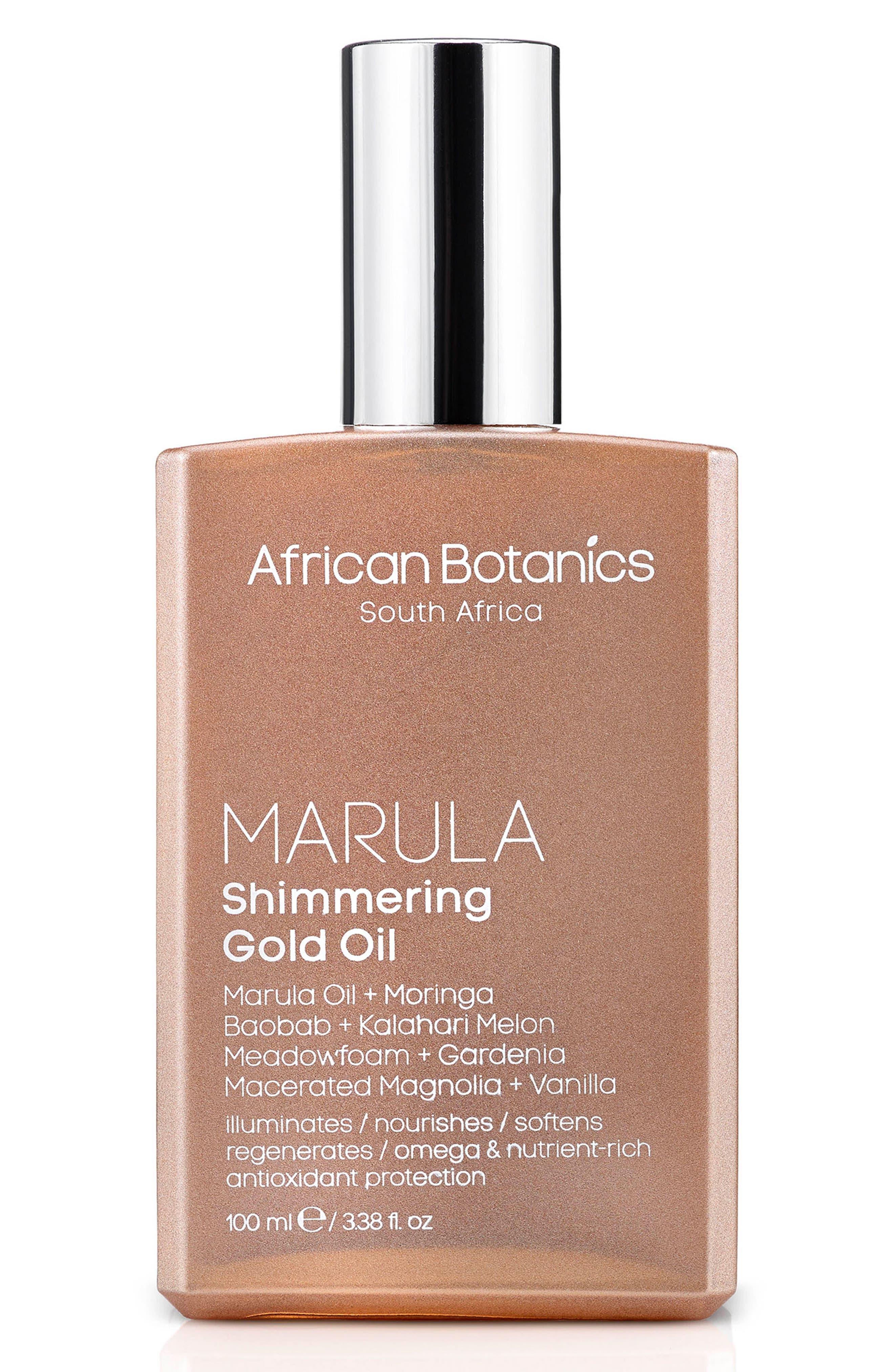 Alternate Image 1 Selected - African Botanics Marula Shimmering Gold Oil