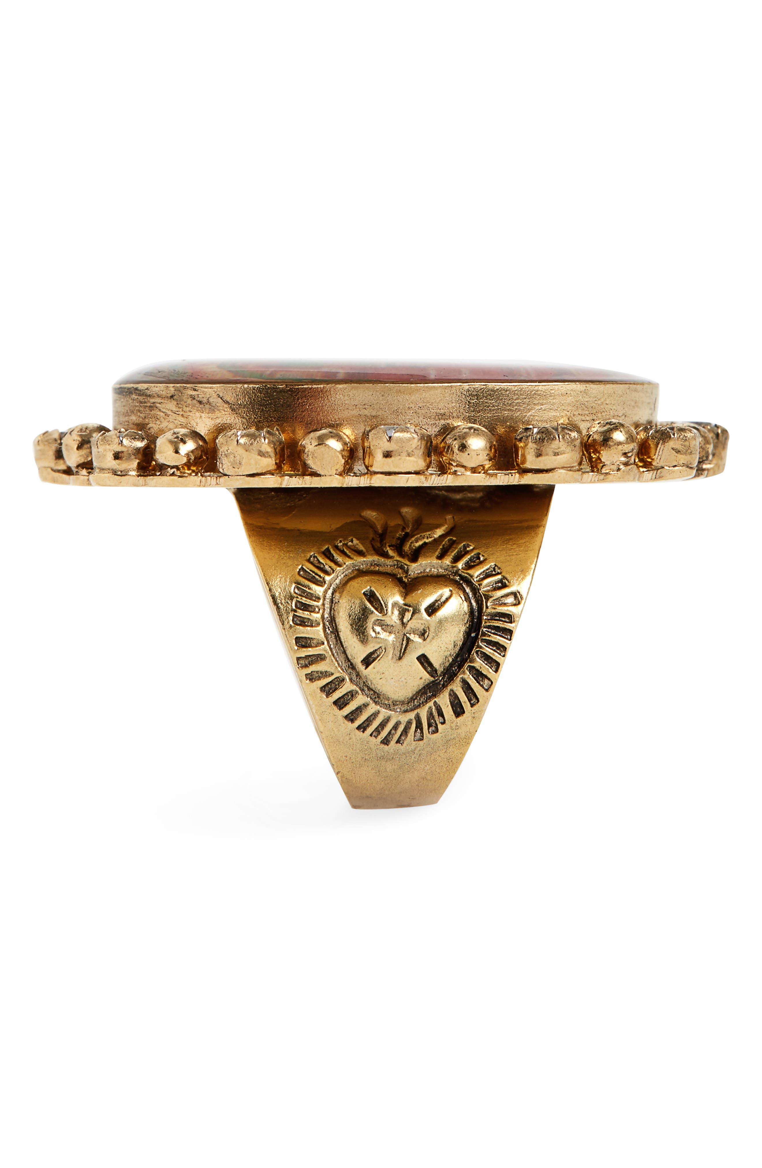 Bee-Lieve Ring,                             Alternate thumbnail 2, color,                             Gold