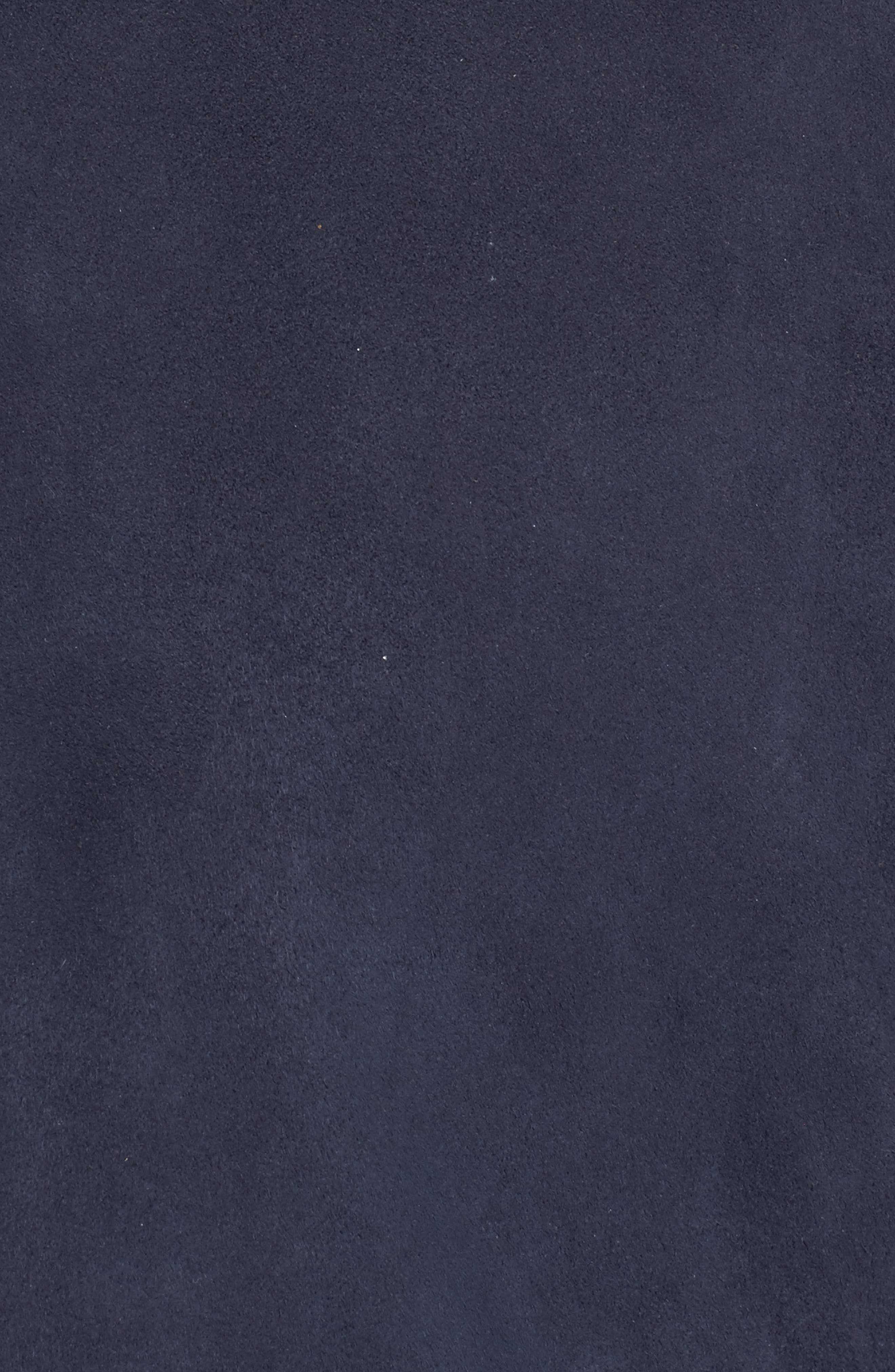 Suede Bomber Jacket,                             Alternate thumbnail 5, color,                             Navy Blue