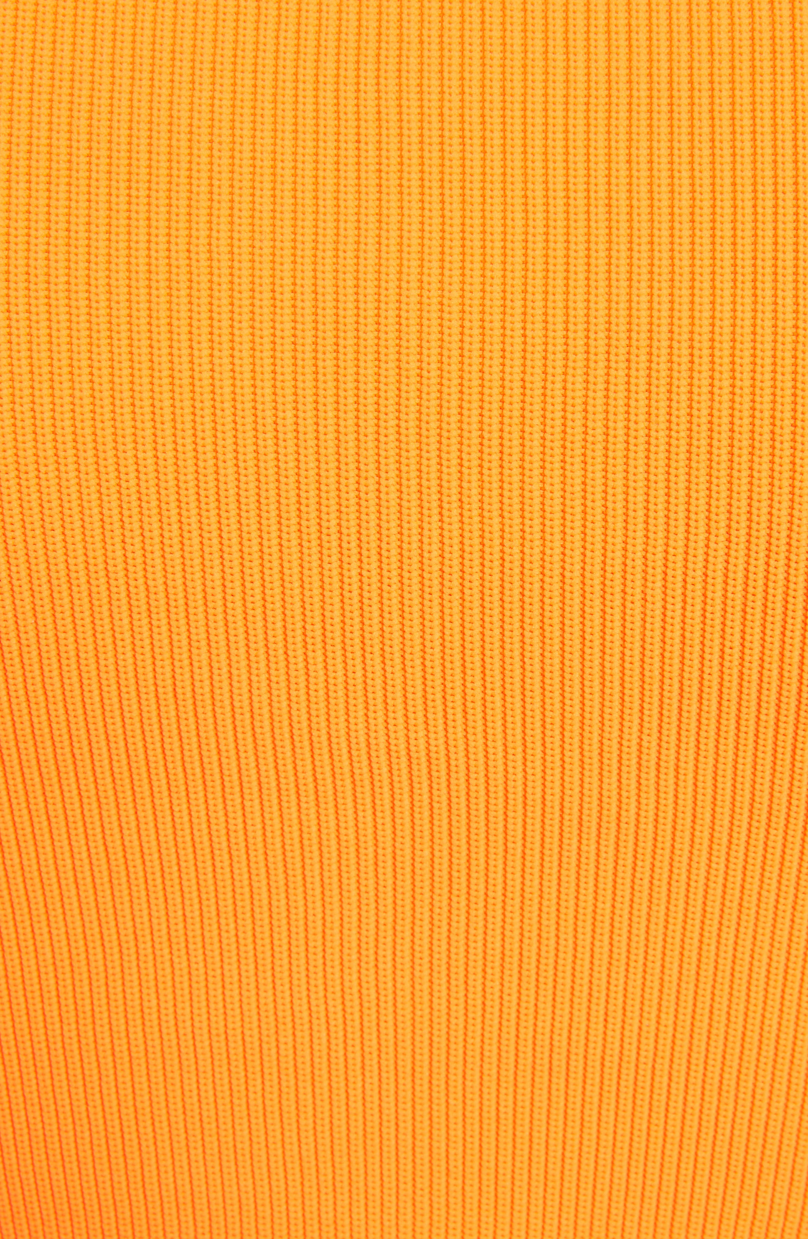 Essential Ribbed Tee,                             Alternate thumbnail 5, color,                             Orange