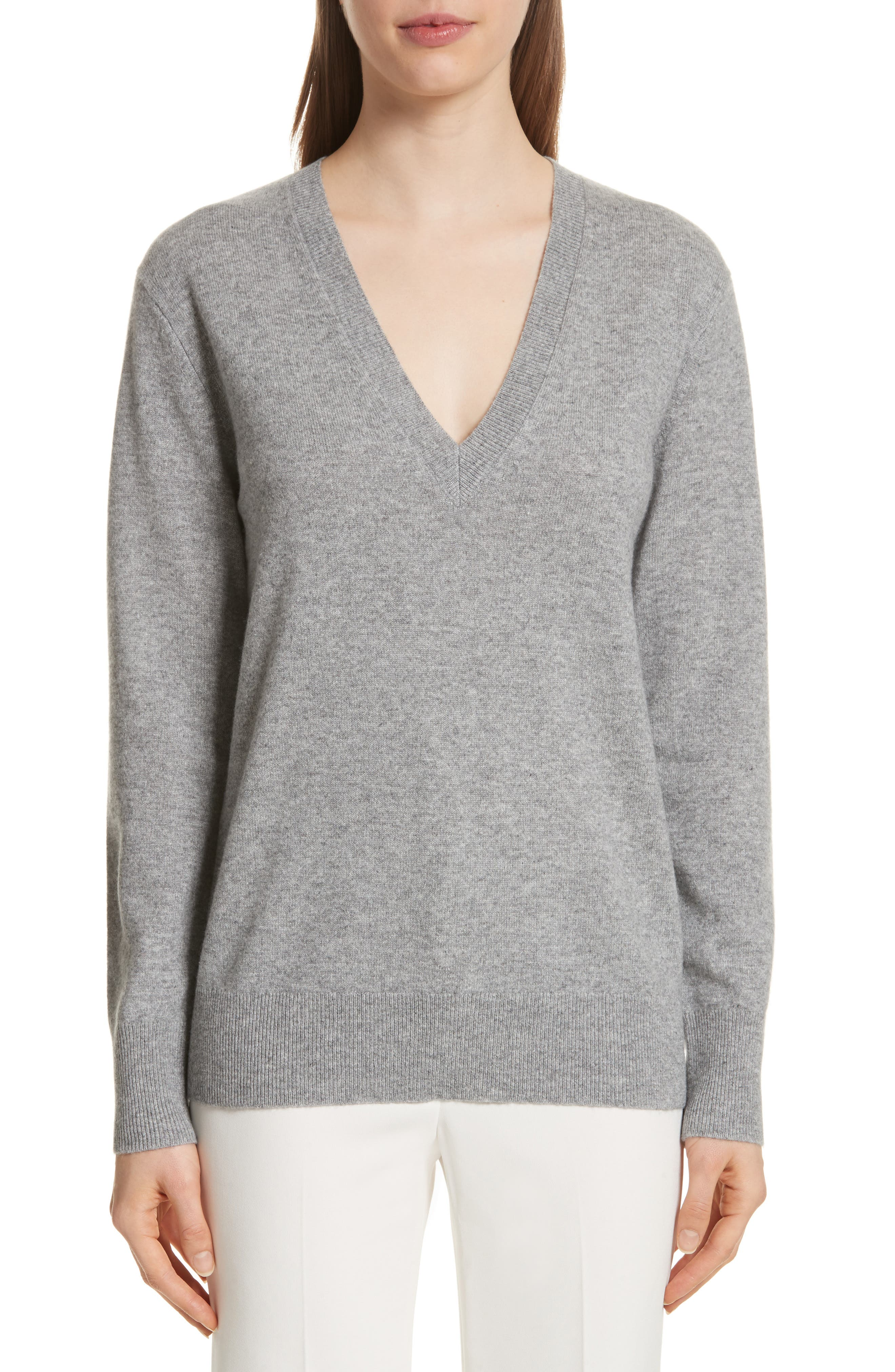 Button Sleeve Cashmere Sweater,                             Main thumbnail 1, color,                             Husky